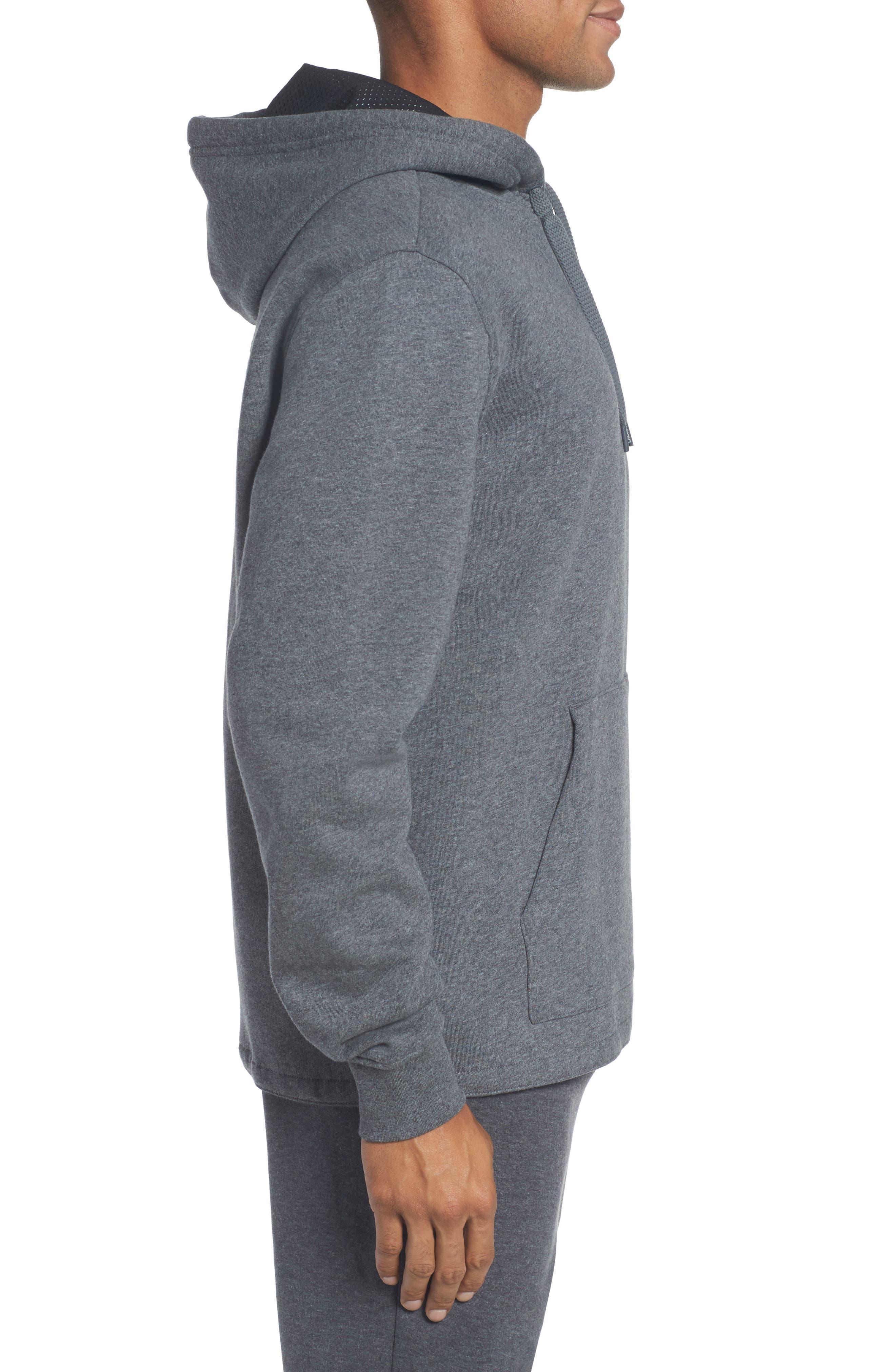 Brushed Fleece Logo Hoodie,                             Alternate thumbnail 5, color,