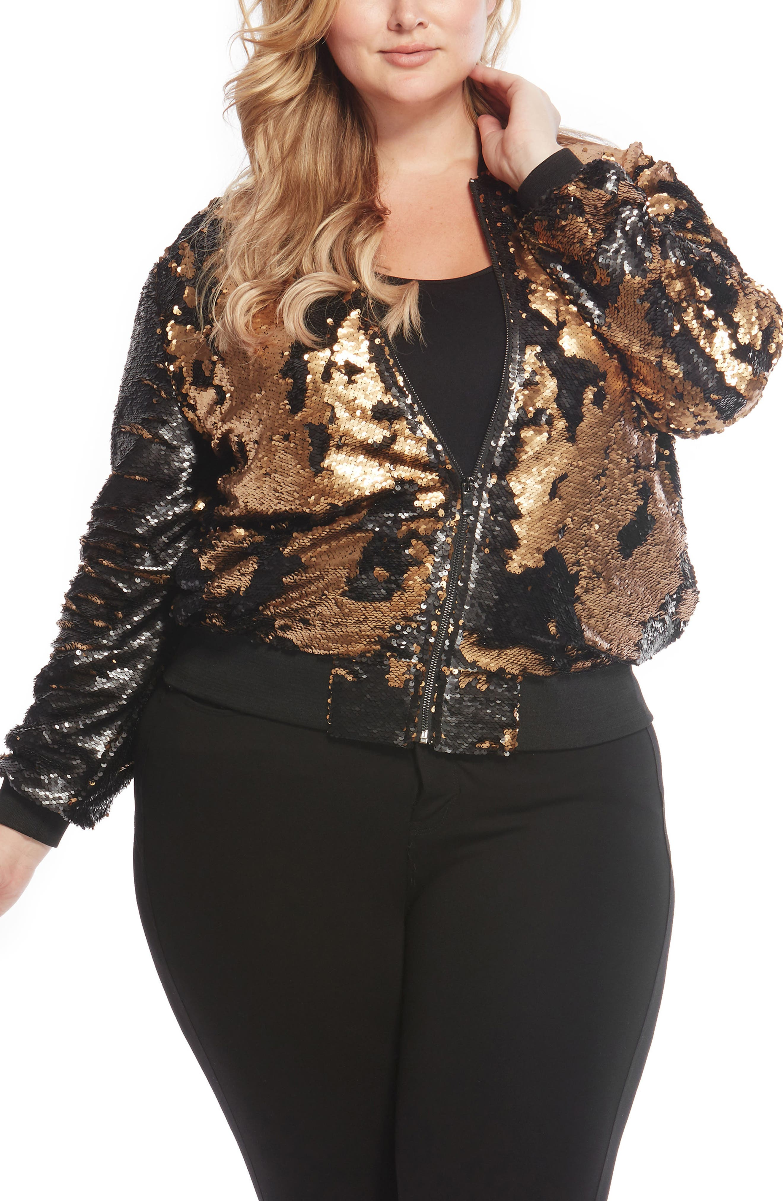 Sequin Bomber Jacket,                             Main thumbnail 1, color,                             005