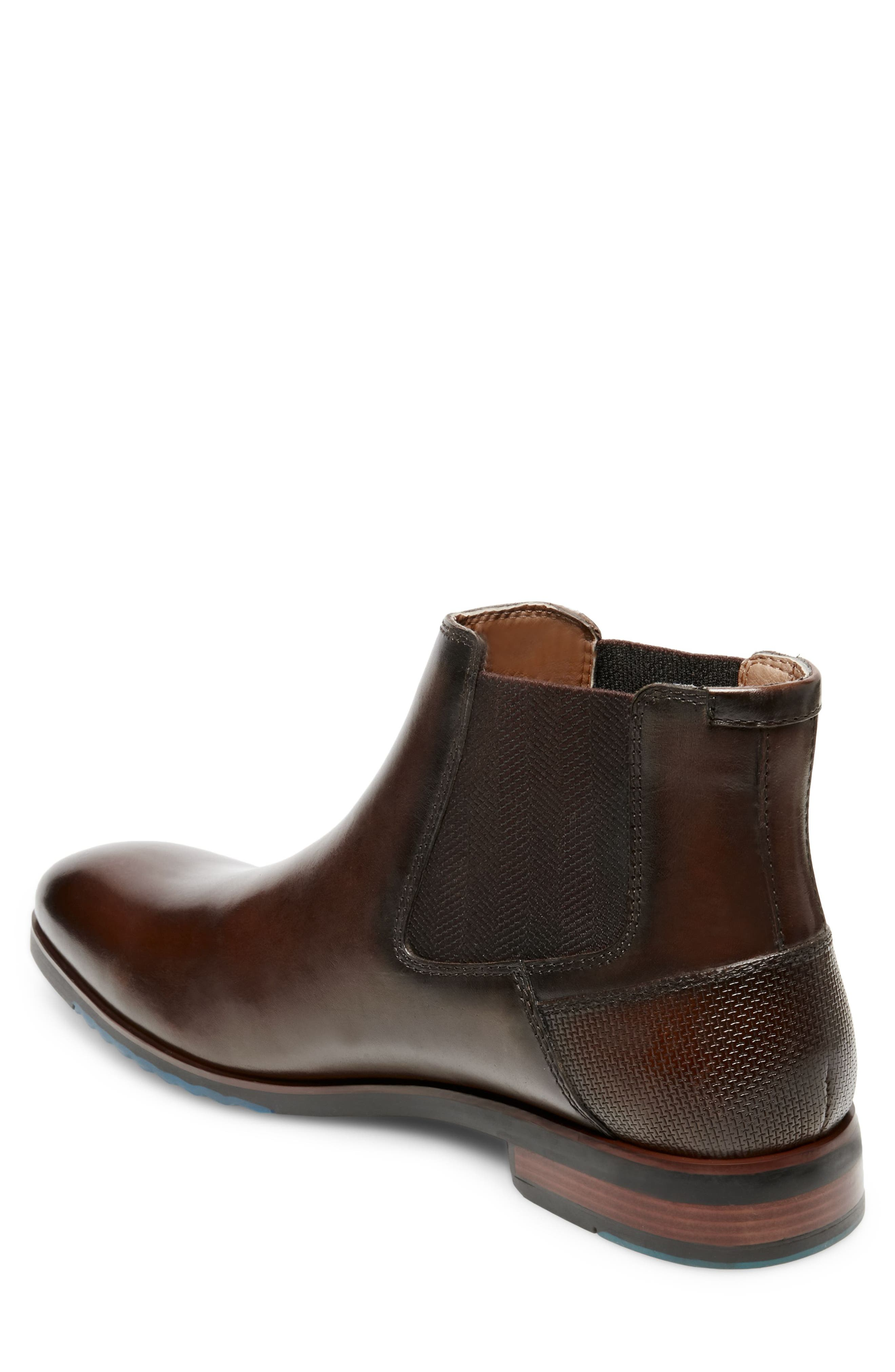 Leston Chelsea Boot,                             Alternate thumbnail 2, color,                             BROWN LEATHER