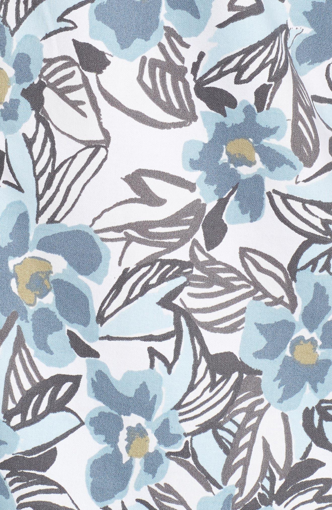Paradise Valley Floral Woven Shirt,                             Alternate thumbnail 5, color,                             142