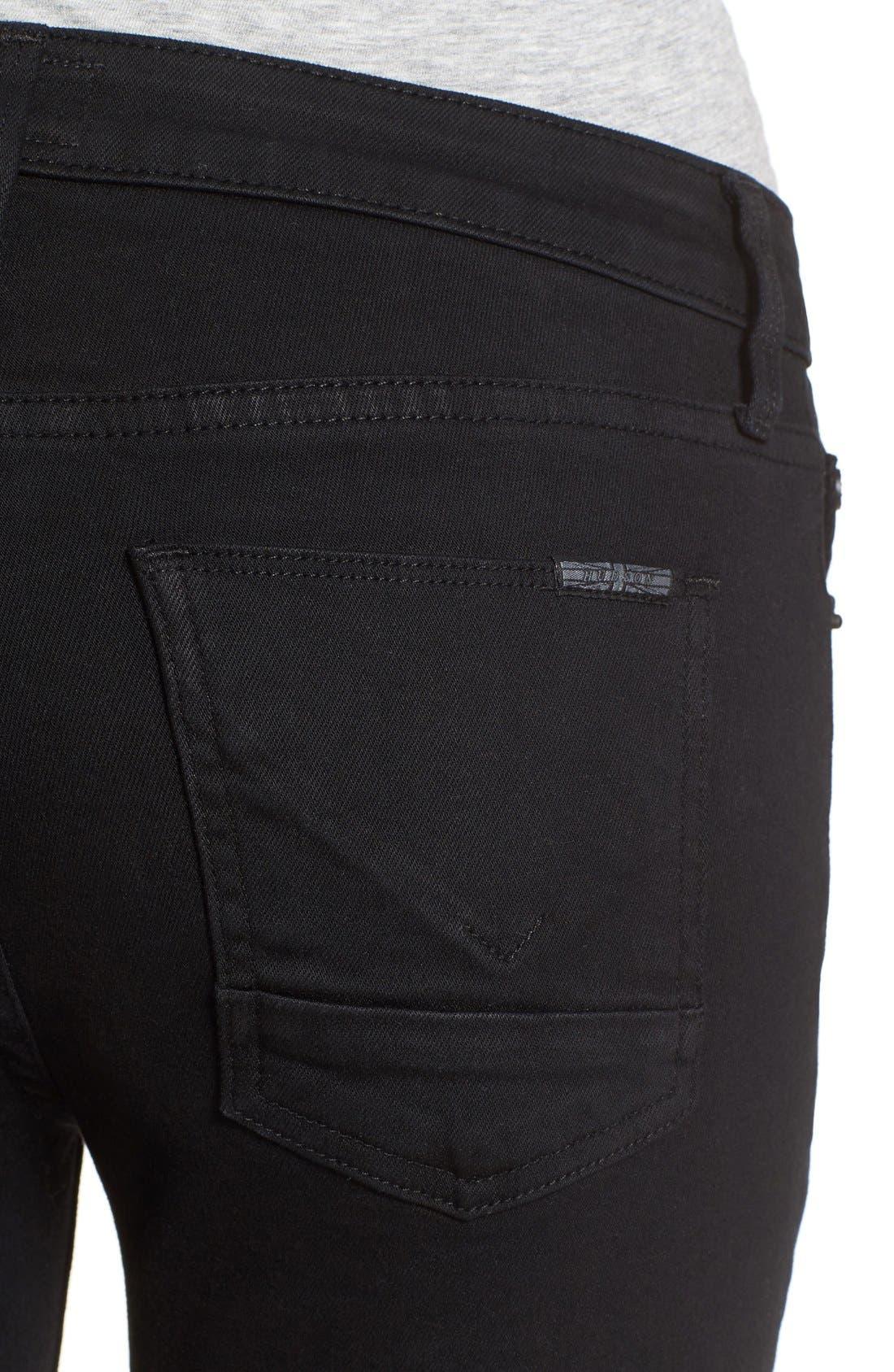 'Mia' Raw Hem Crop Flare Jeans,                             Alternate thumbnail 2, color,                             001
