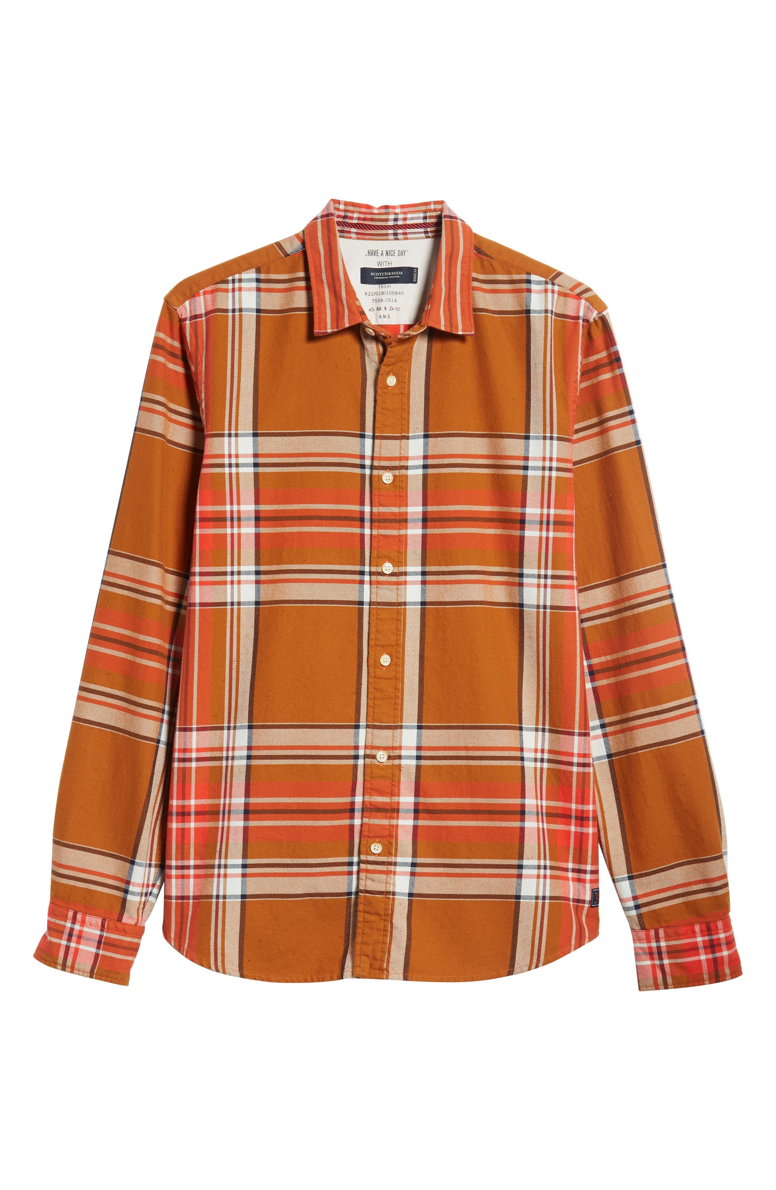 Plaid Flannel Shirt,                             Alternate thumbnail 5, color,                             COMBO A