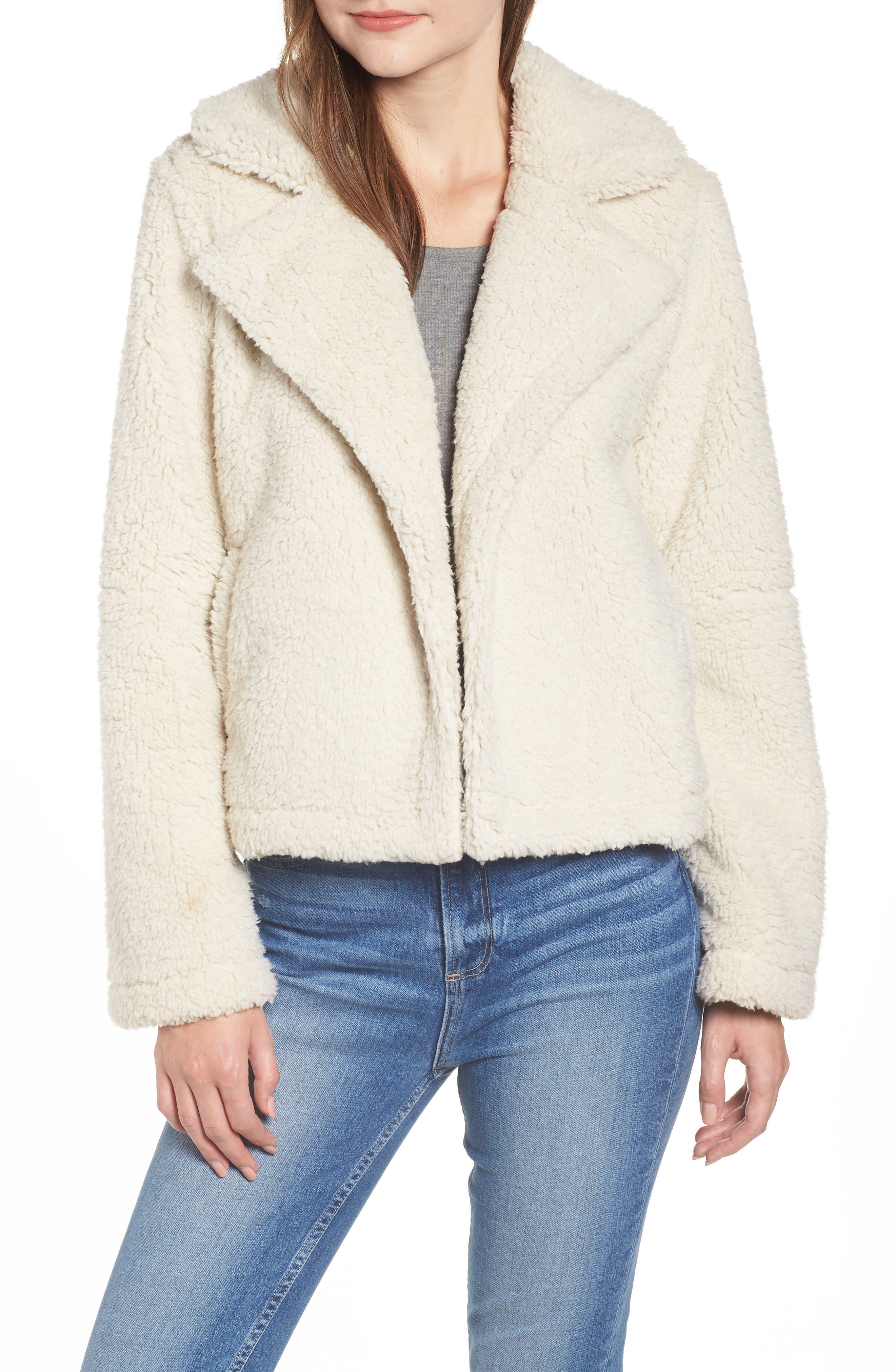 Teddy Bear Faux Fur Jacket, Main, color, 900