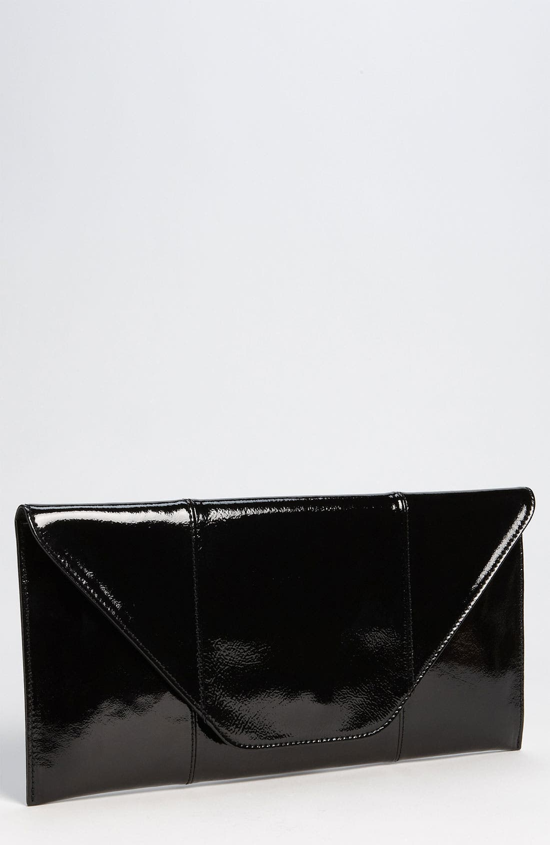 Leather Clutch,                             Main thumbnail 1, color,                             001