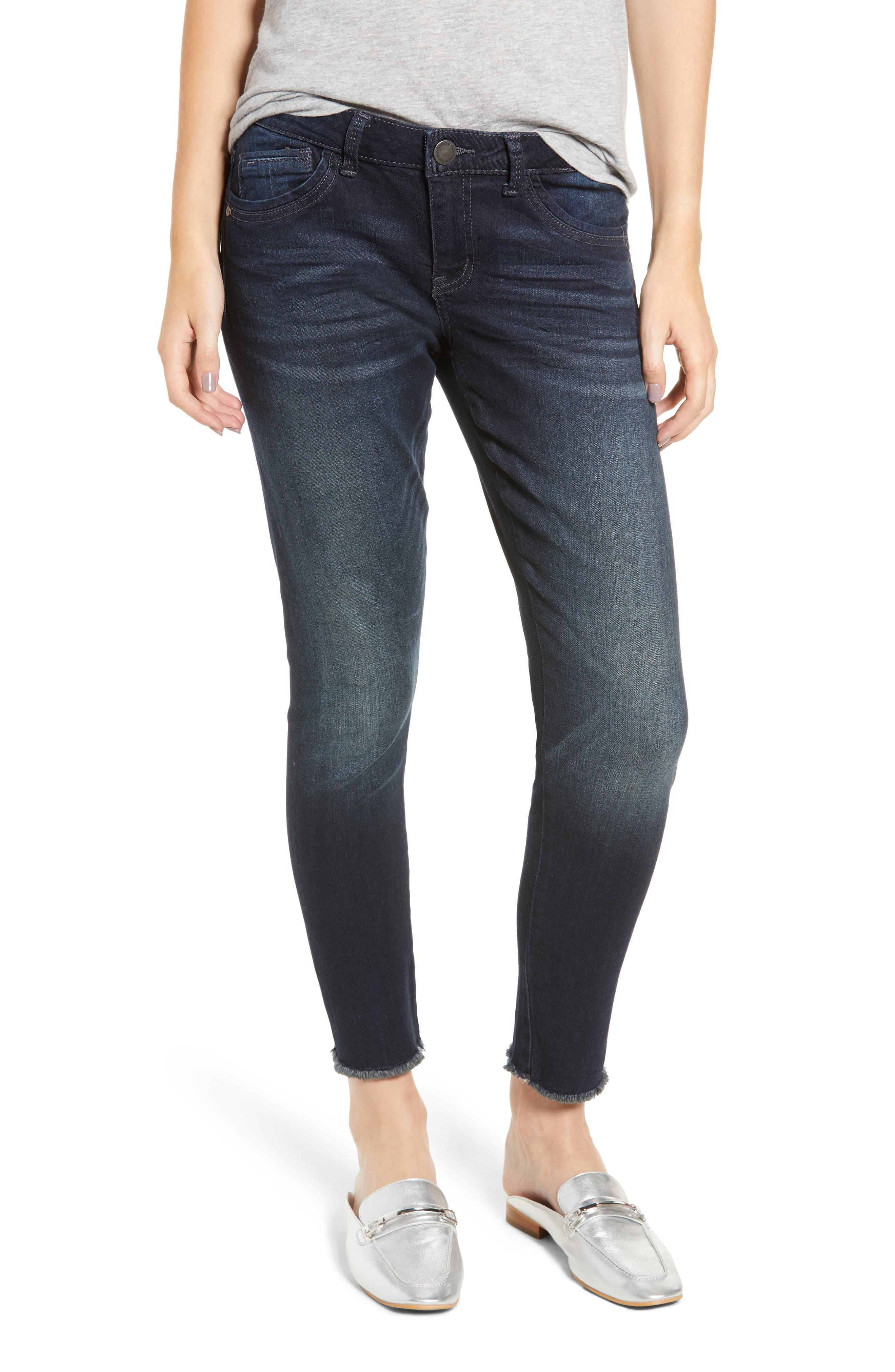 Seamless Ankle Skimmer Jeans,                         Main,                         color, INDIGO