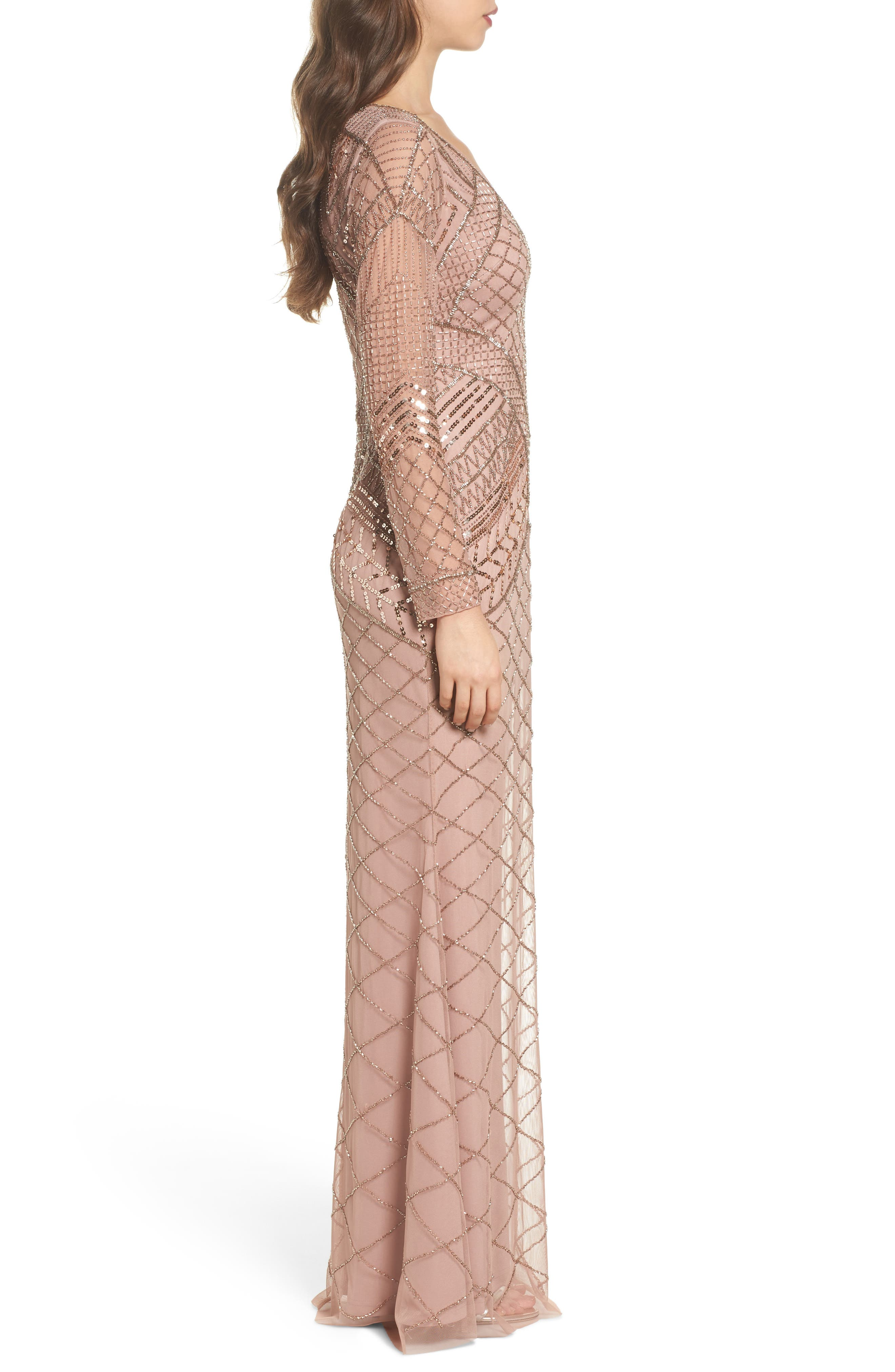 Embellished Mermaid Gown,                             Alternate thumbnail 3, color,                             658