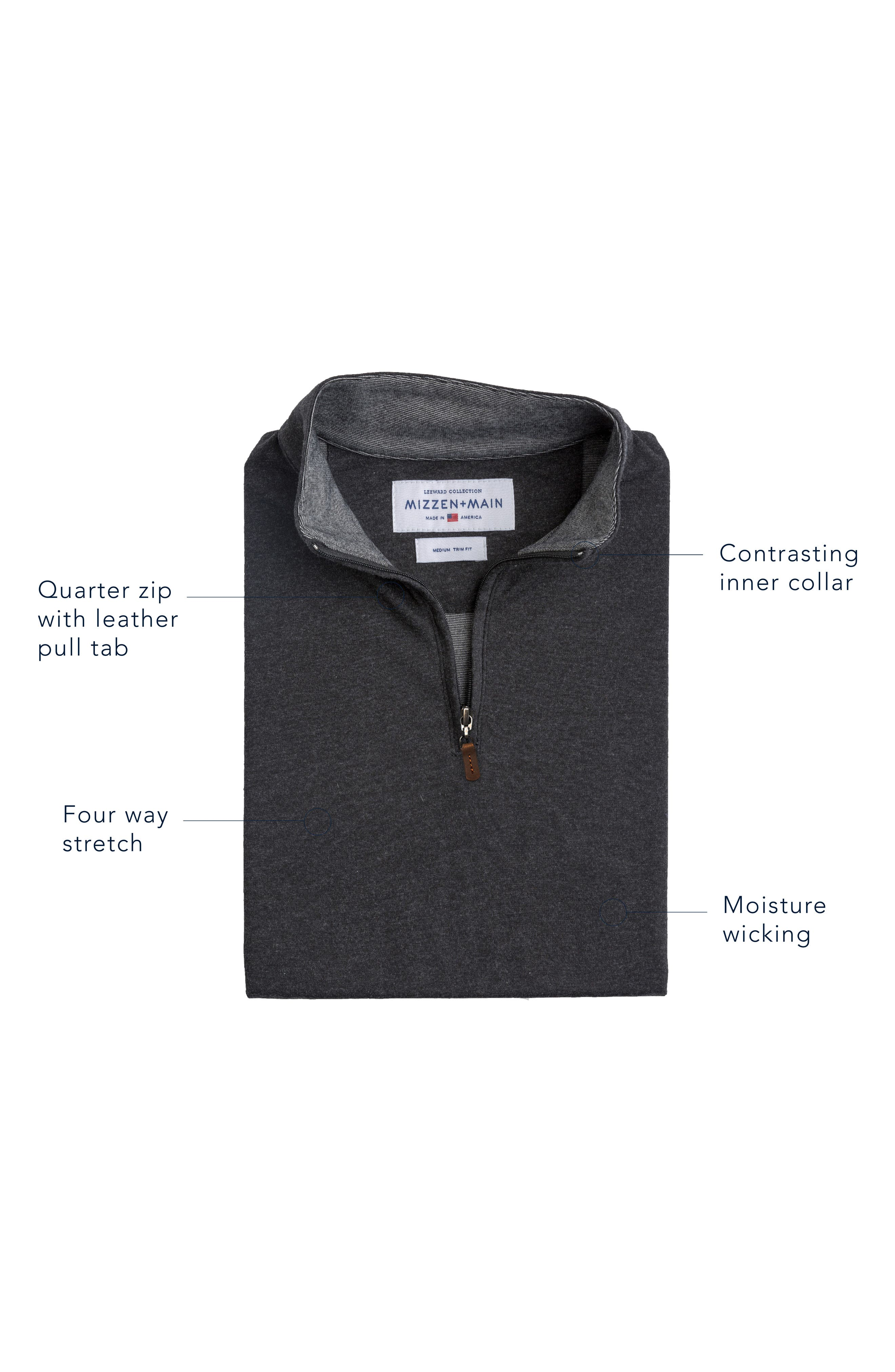 Quarter Zip Pullover,                             Alternate thumbnail 7, color,                             BLUE