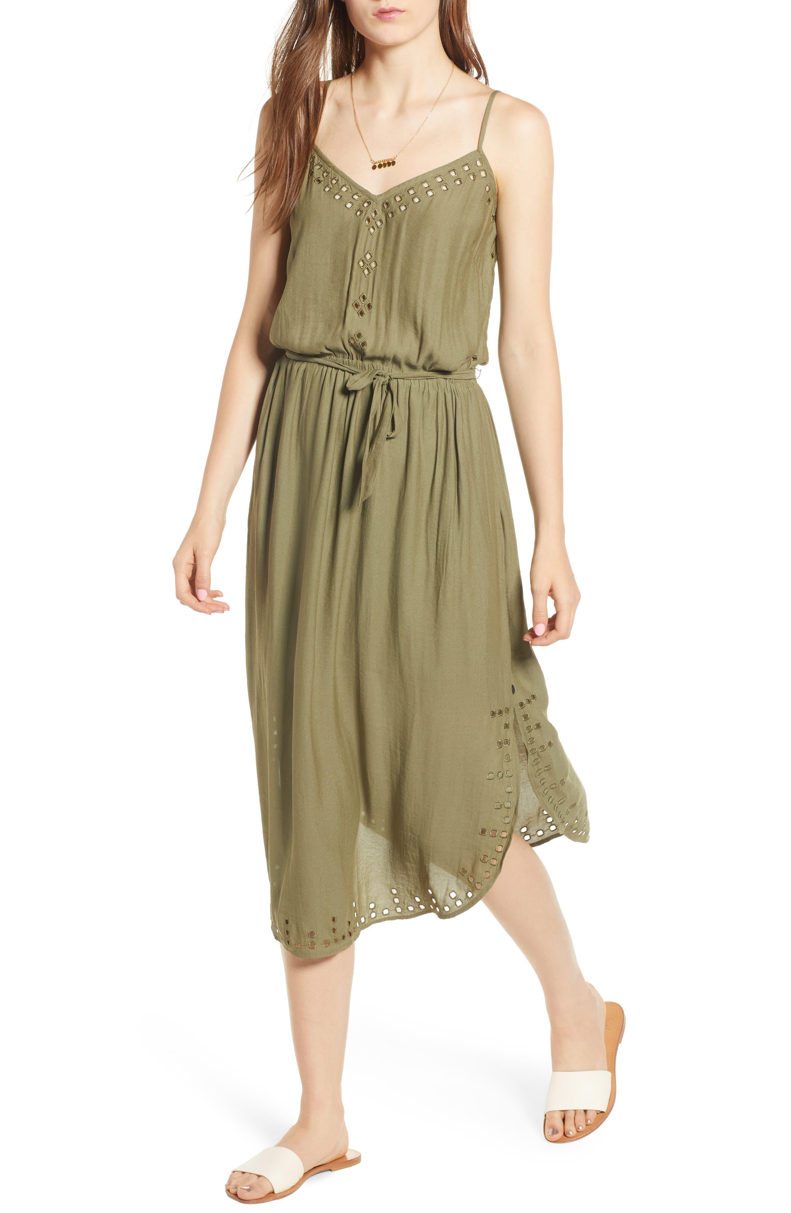 Strappy Cutout Midi Dress,                         Main,                         color, 301