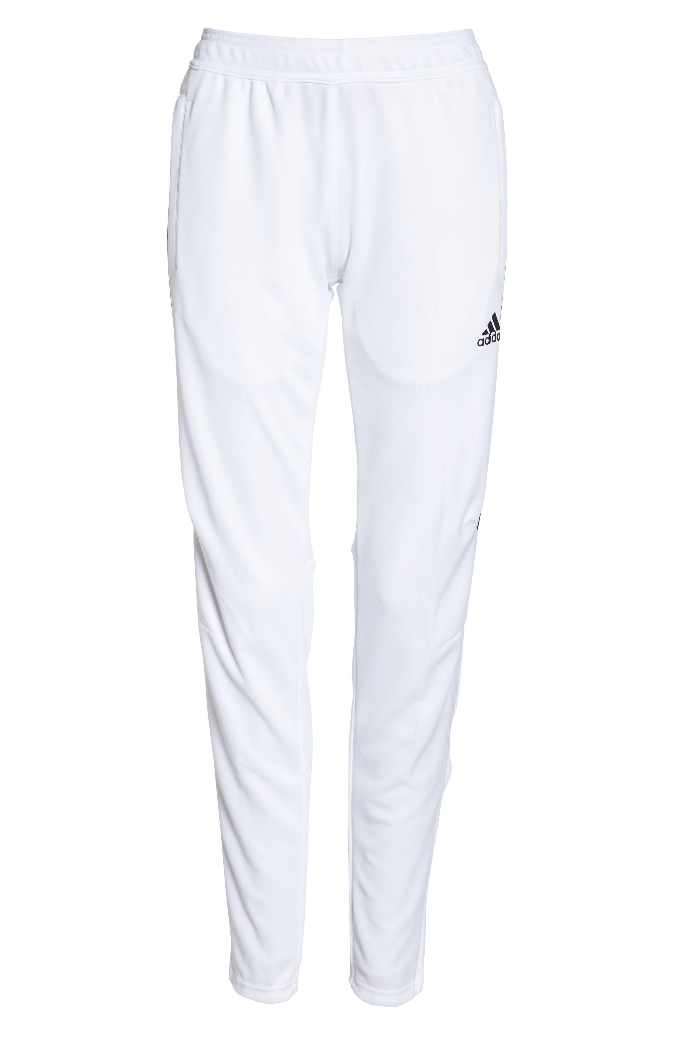 Tiro 17 Training Pants,                             Alternate thumbnail 7, color,                             WHITE/ BLACK