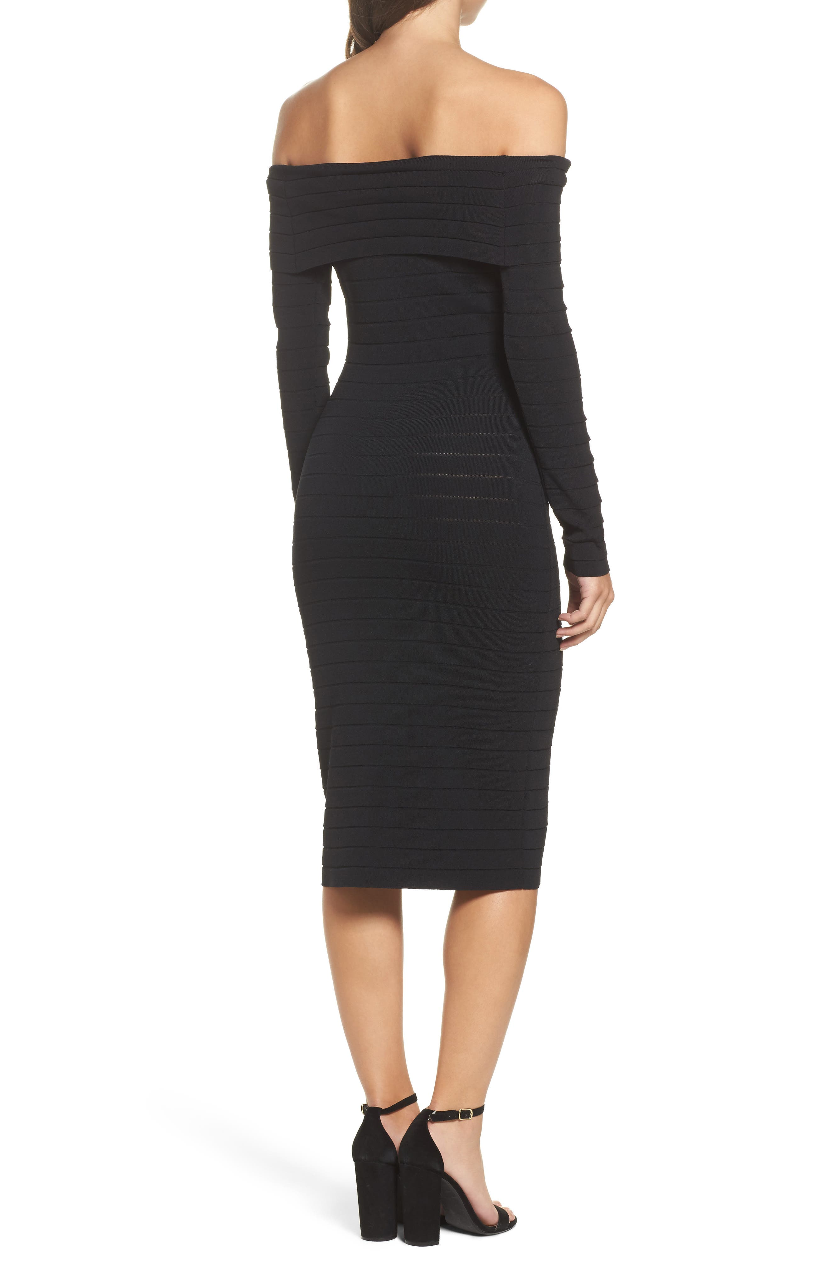 Bandage Midi Dress,                             Alternate thumbnail 6, color,