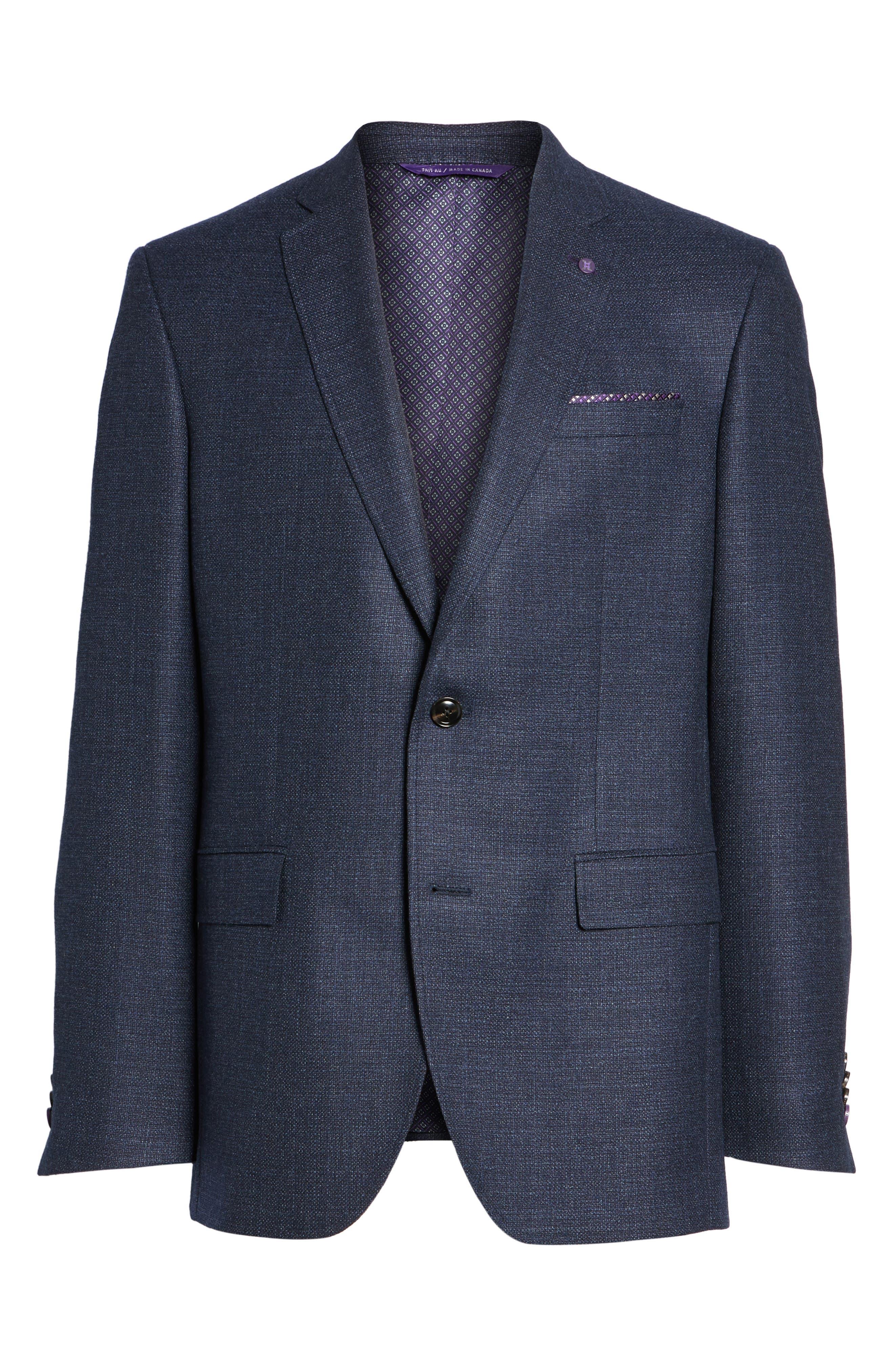 Trim Fit Wool Blazer,                             Alternate thumbnail 5, color,                             400
