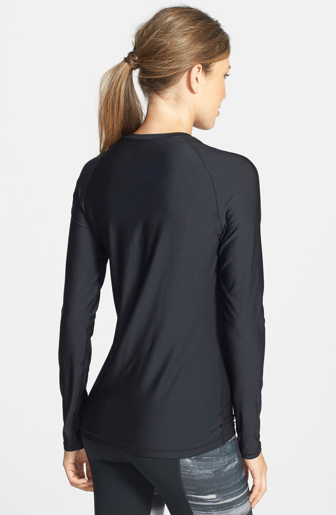 'Alpha Novelty' HeatGear<sup>®</sup> Long Sleeve Top,                             Alternate thumbnail 2, color,                             001