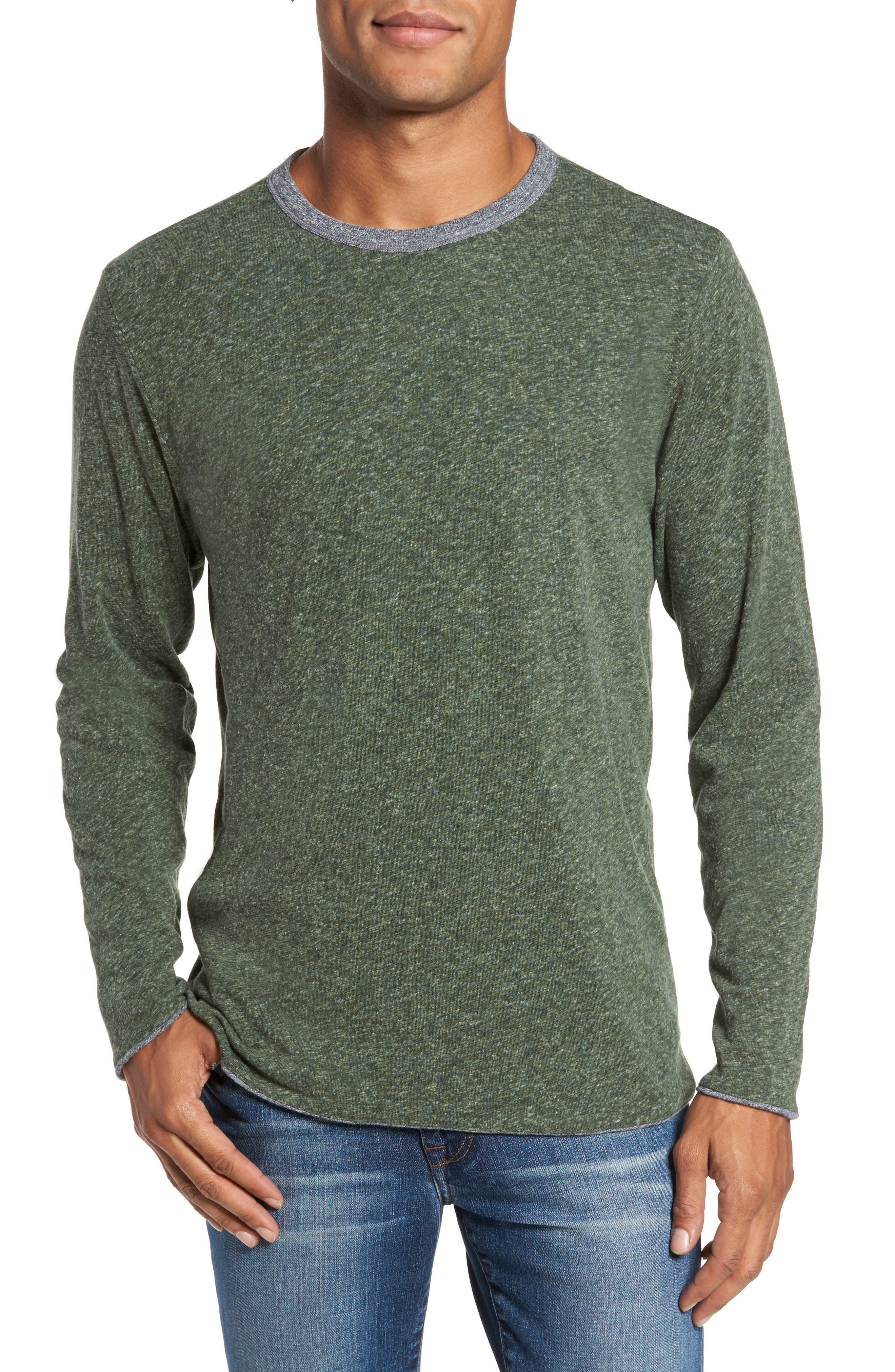 Reversible Long Sleeve Crewneck T-Shirt,                             Alternate thumbnail 4, color,                             038