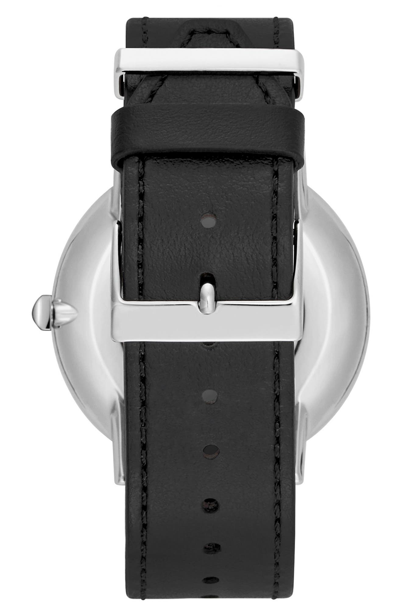 Major Leather Strap Watch, 40mm,                             Alternate thumbnail 2, color,                             001