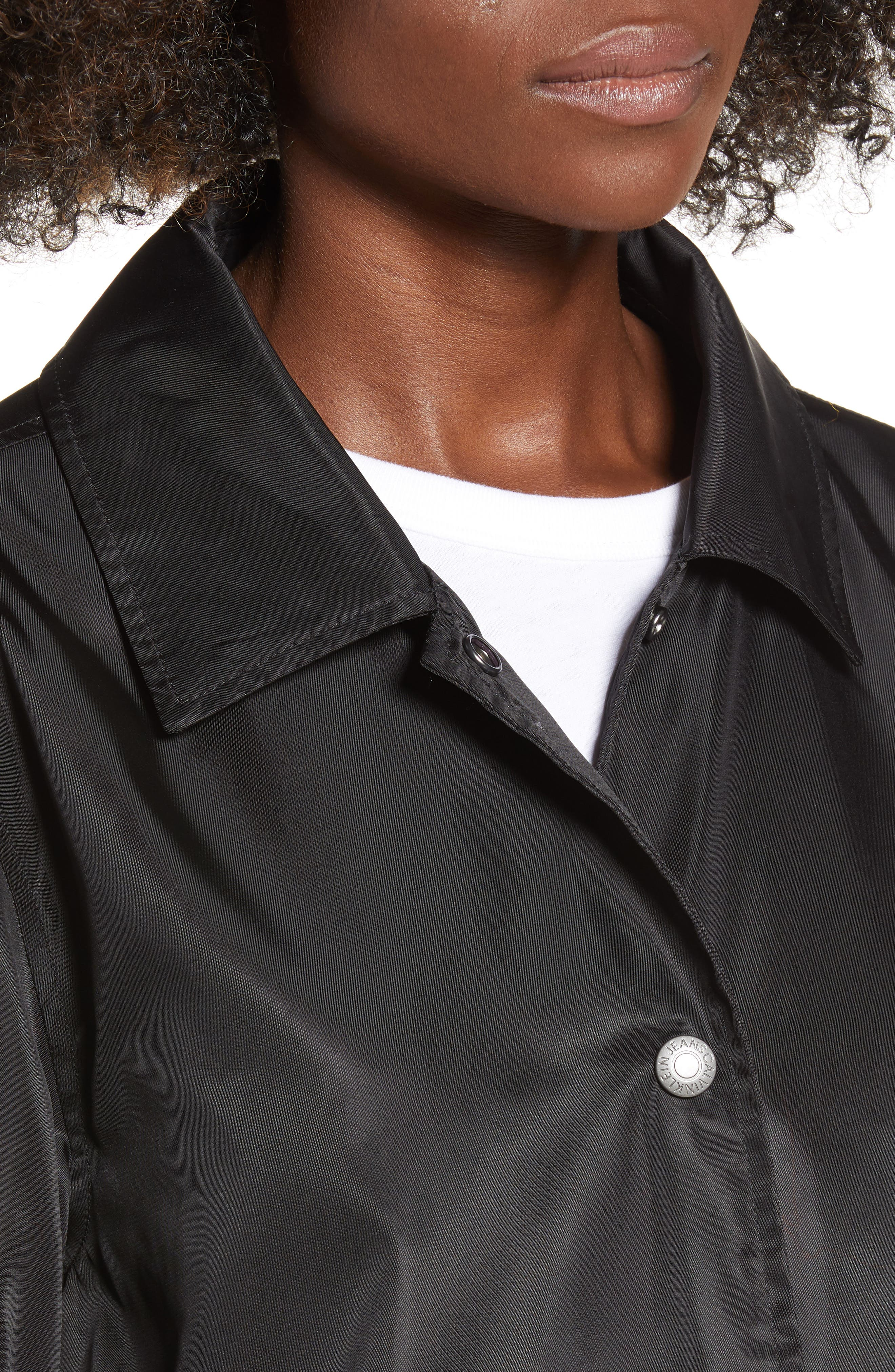 Coach Jacket,                             Alternate thumbnail 4, color,                             BLACK