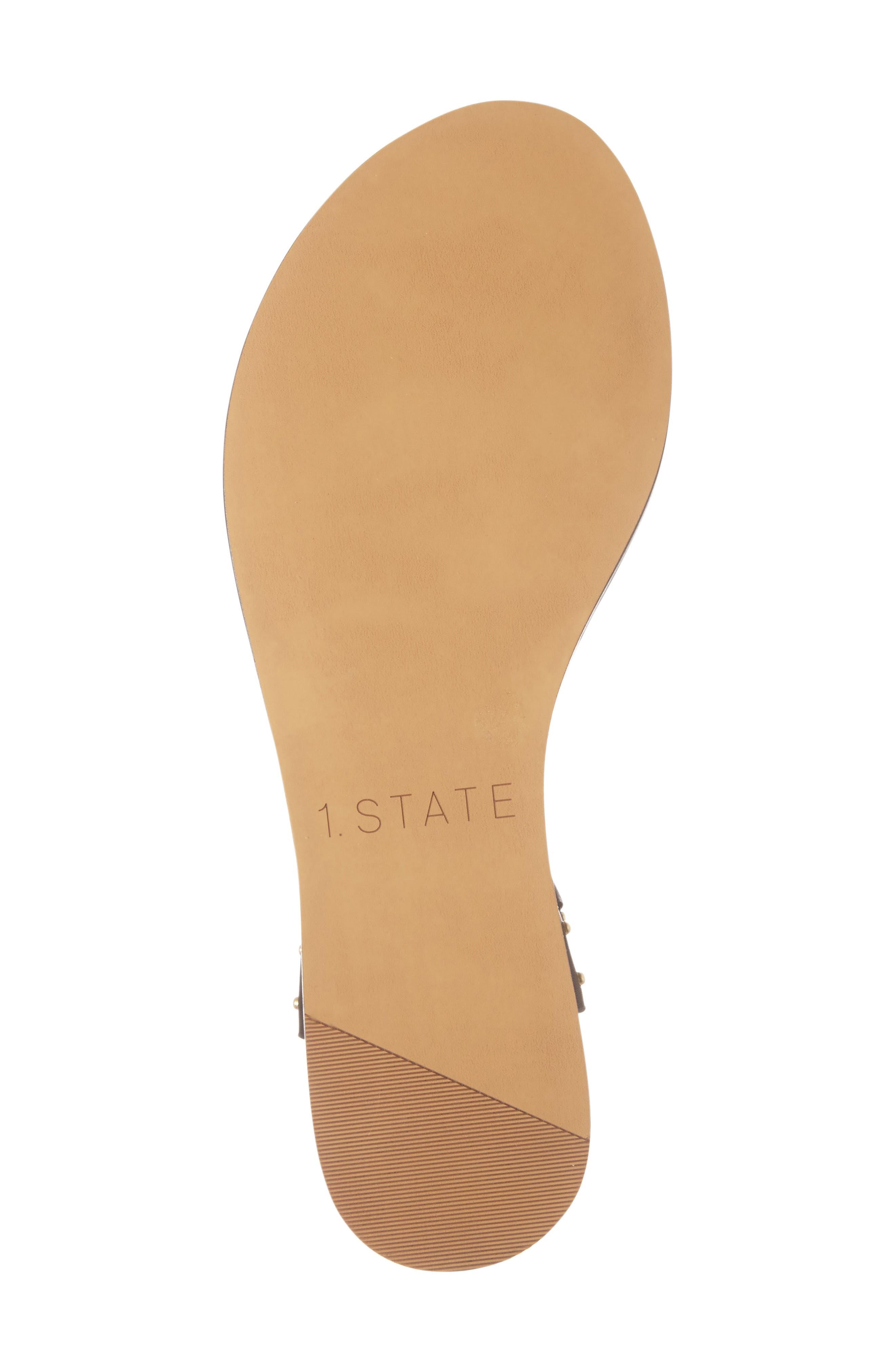 Lamanna Ankle Strap Sandal,                             Alternate thumbnail 4, color,                             001