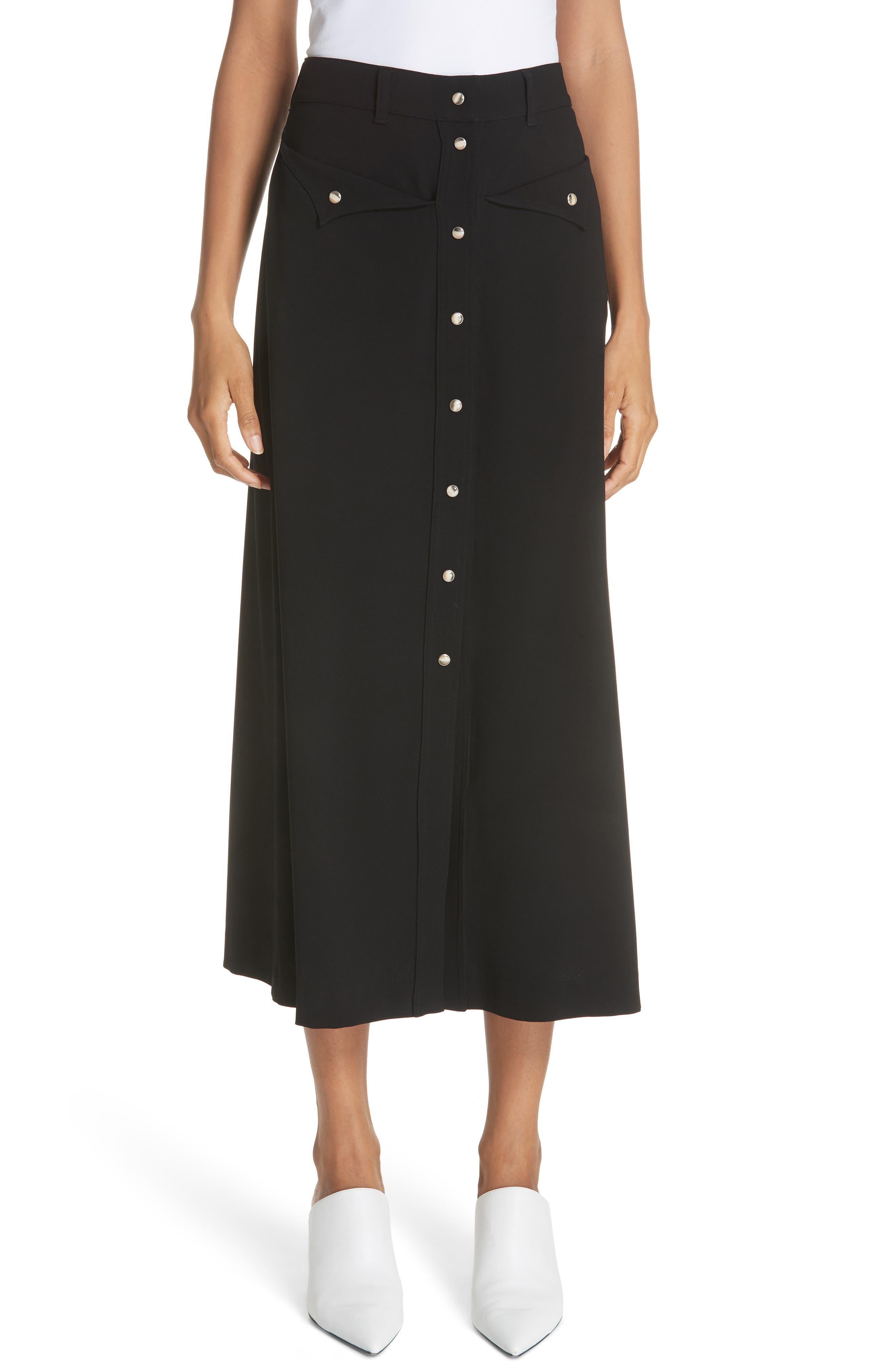 Meida Midi Skirt,                             Main thumbnail 1, color,                             003