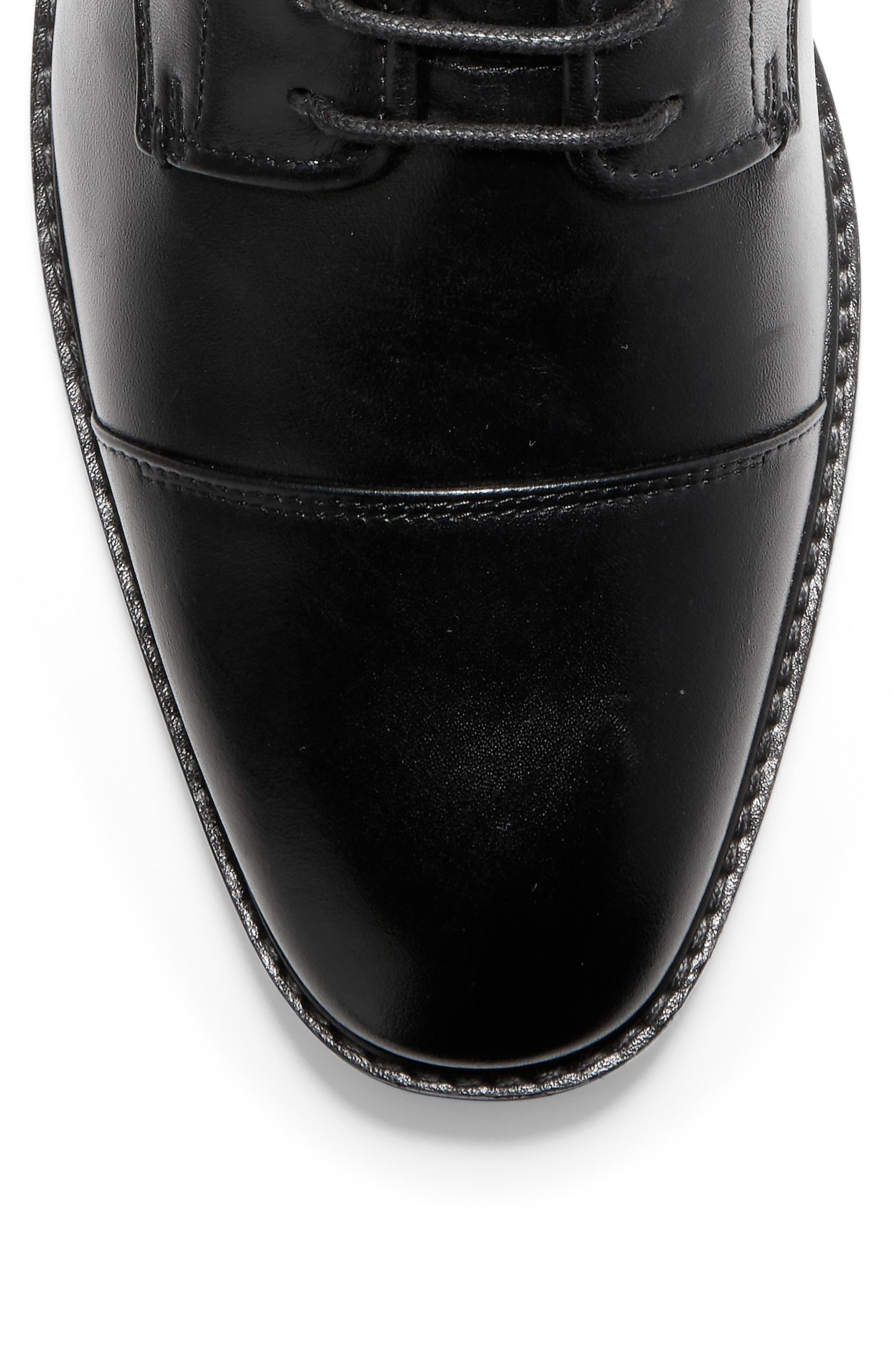 Wagner Grand Cap Toe Boot,                             Alternate thumbnail 7, color,                             BLACK LEATHER