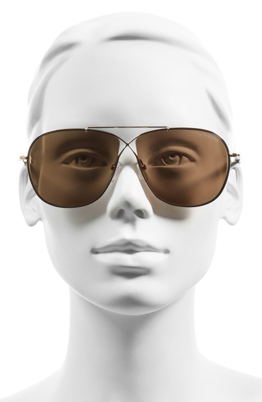 'April' 61mm Retro Sunglasses,                             Alternate thumbnail 6, color,
