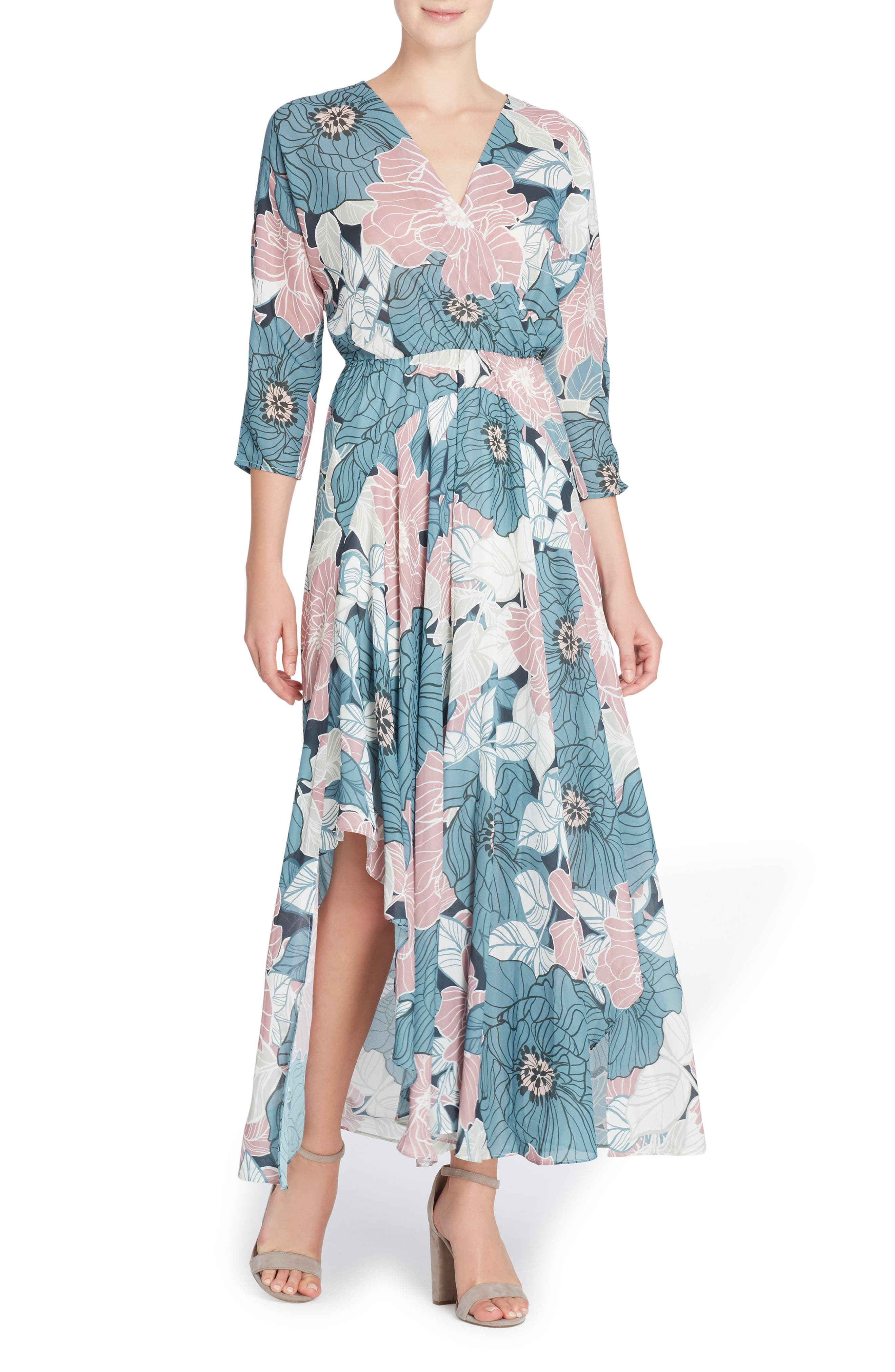 Larissa Chiffon Maxi Dress,                             Main thumbnail 1, color,                             491