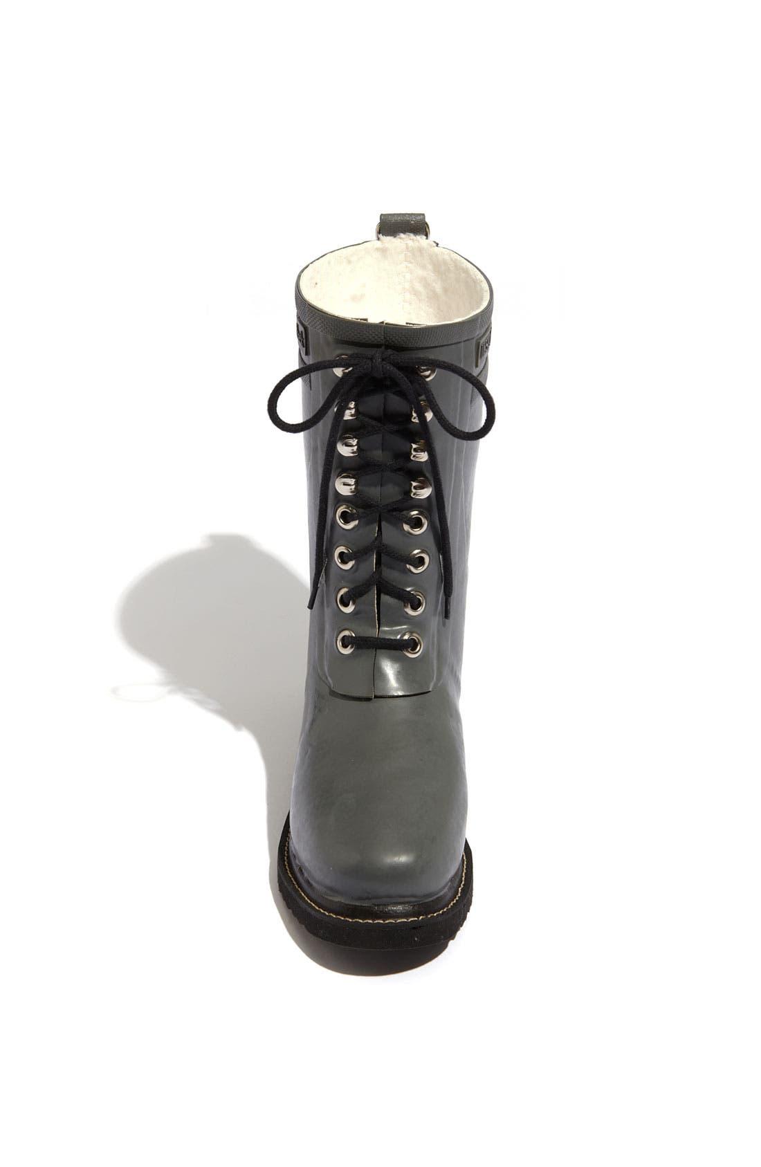 Rubber Waterproof Boot,                             Alternate thumbnail 3, color,                             GREY