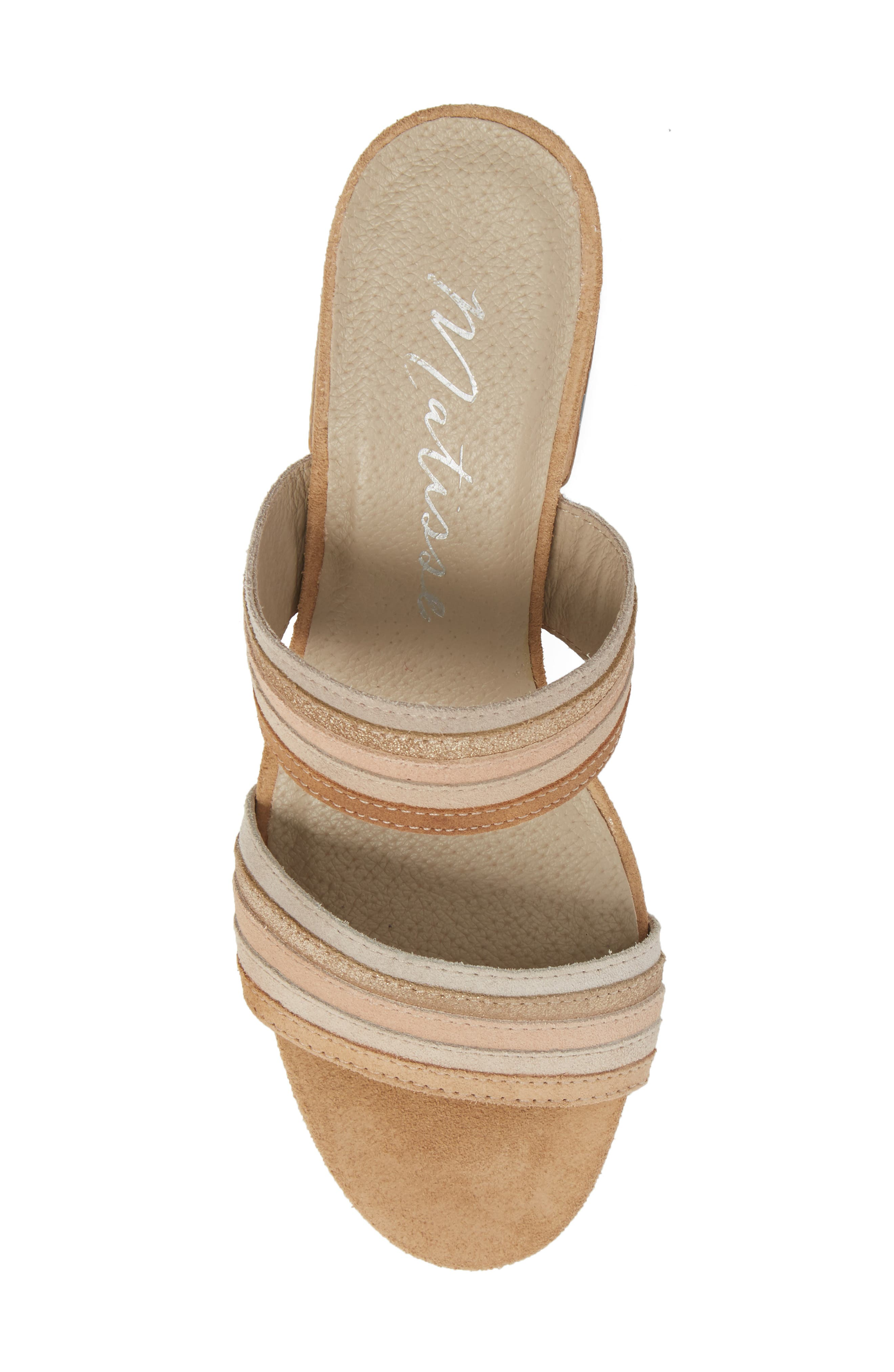 Bonita Slide Sandal,                             Alternate thumbnail 5, color,                             NATURAL SUEDE