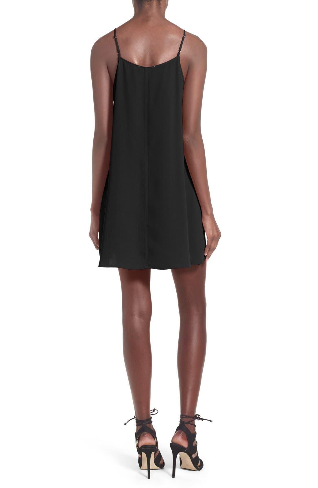 ---,                             Square Neck Shift Dress,                             Alternate thumbnail 2, color,                             001
