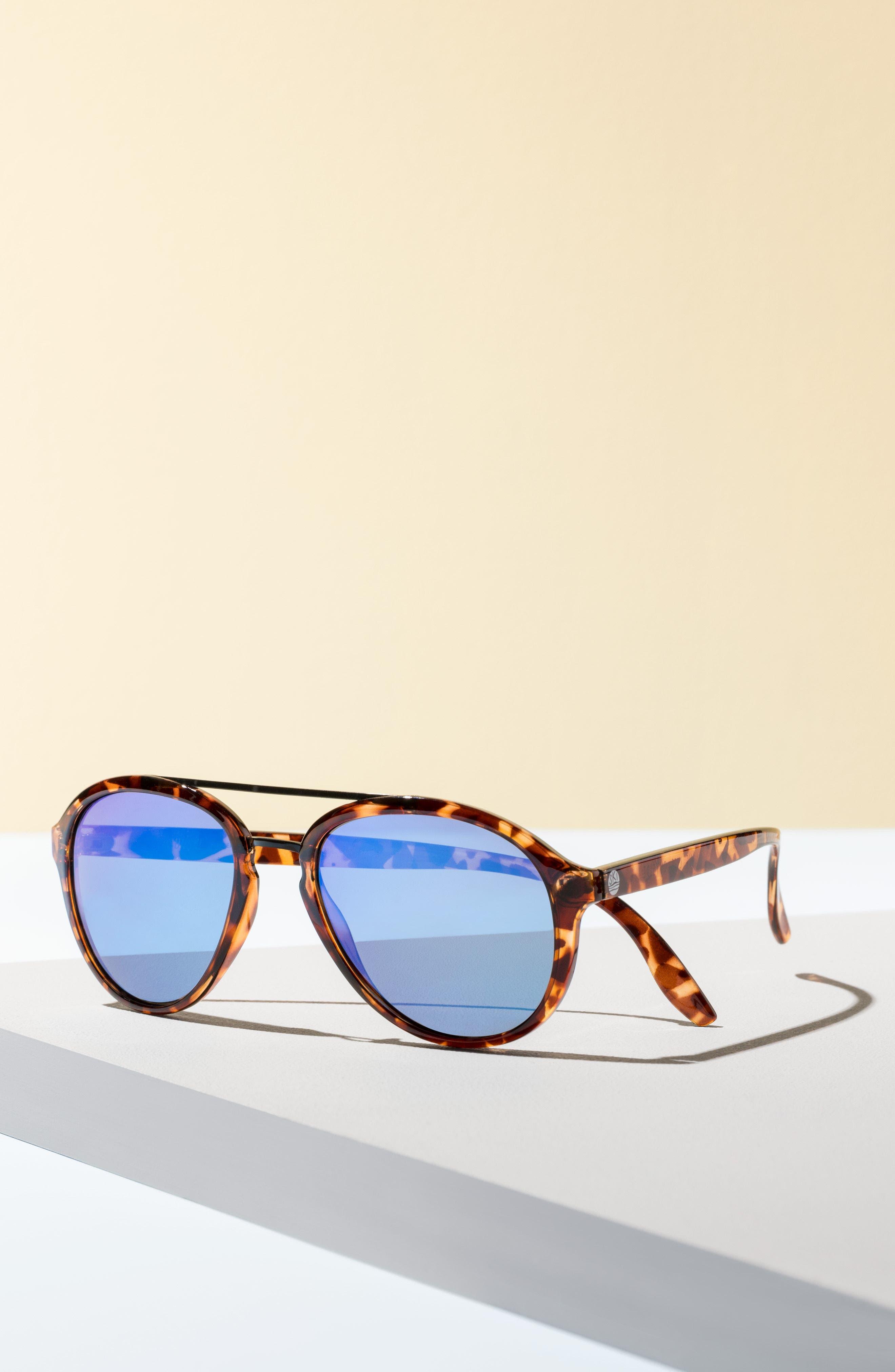 Plover 60mm Polarized Sunglasses,                             Alternate thumbnail 4, color,                             BLACK/ SLATE