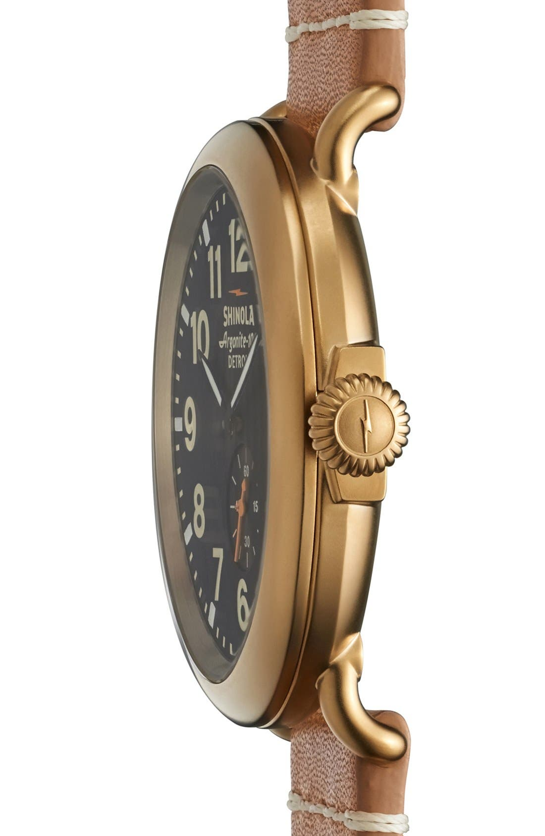 'The Runwell' Leather Strap Watch, 47mm,                             Alternate thumbnail 30, color,