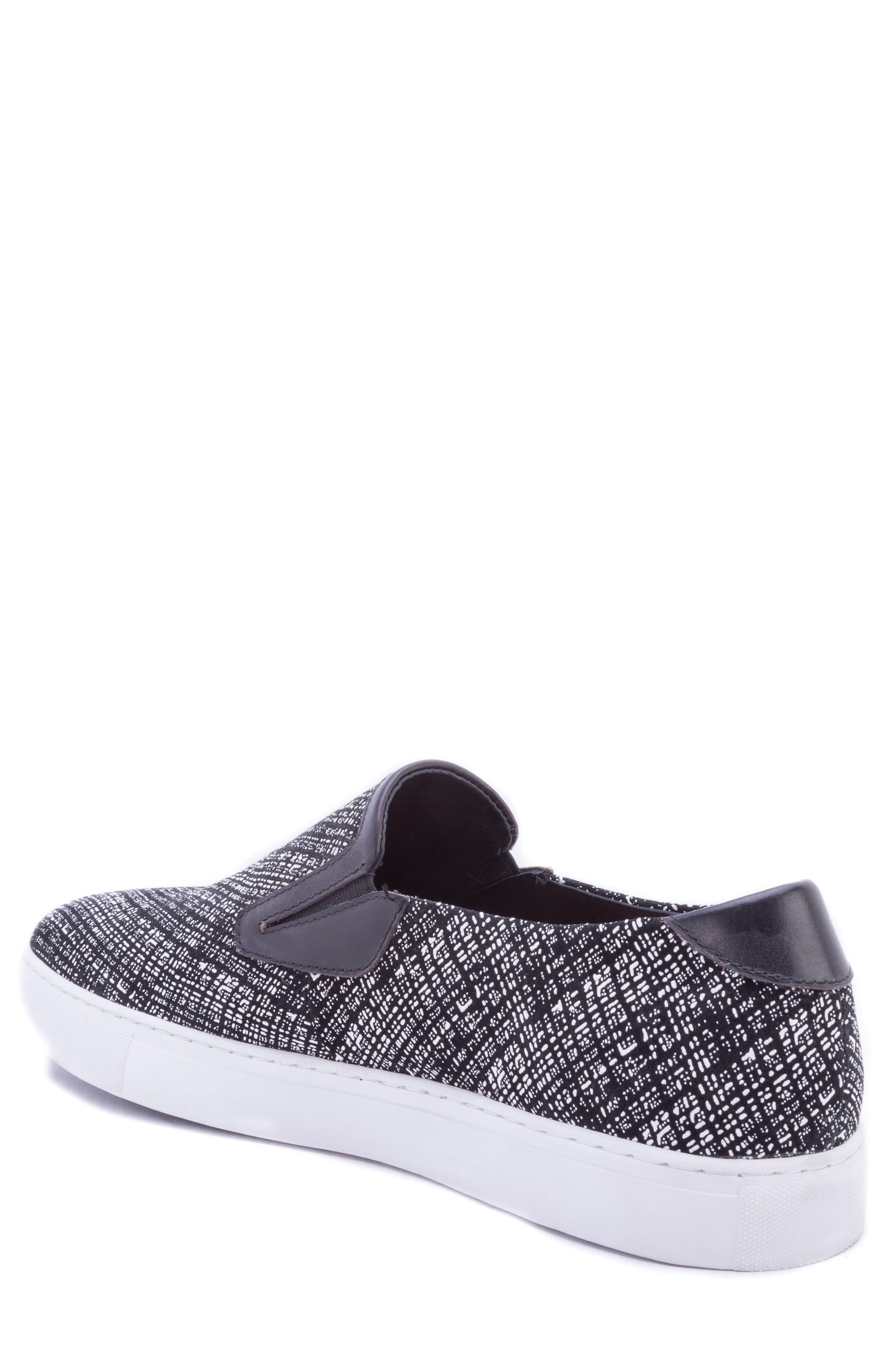 Kitson Slip-On Sneaker,                             Alternate thumbnail 2, color,                             BLACK SUEDE