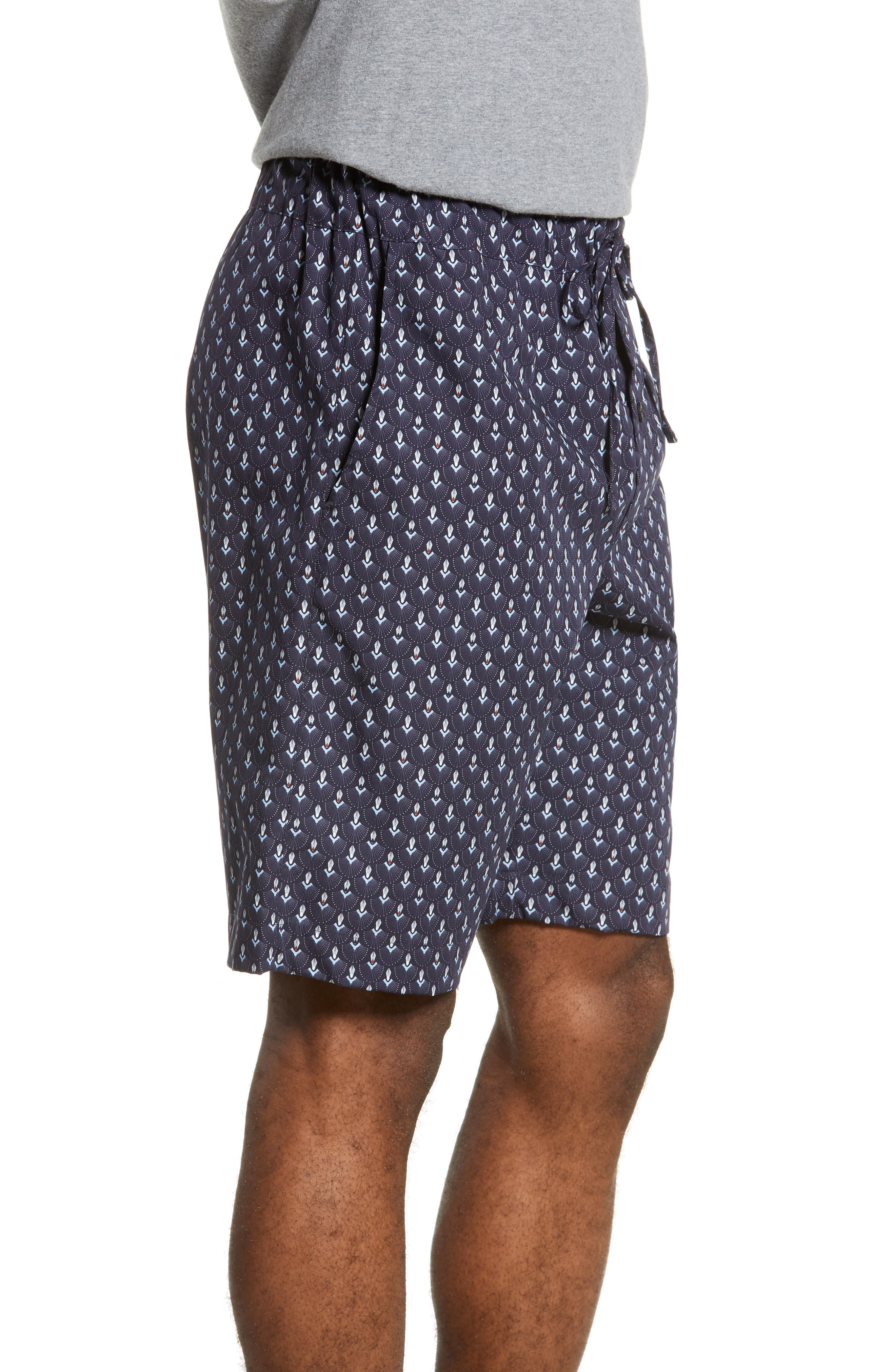 HANRO,                             Night & Day Cotton Lounge Shorts,                             Alternate thumbnail 3, color,                             GRAPHIC