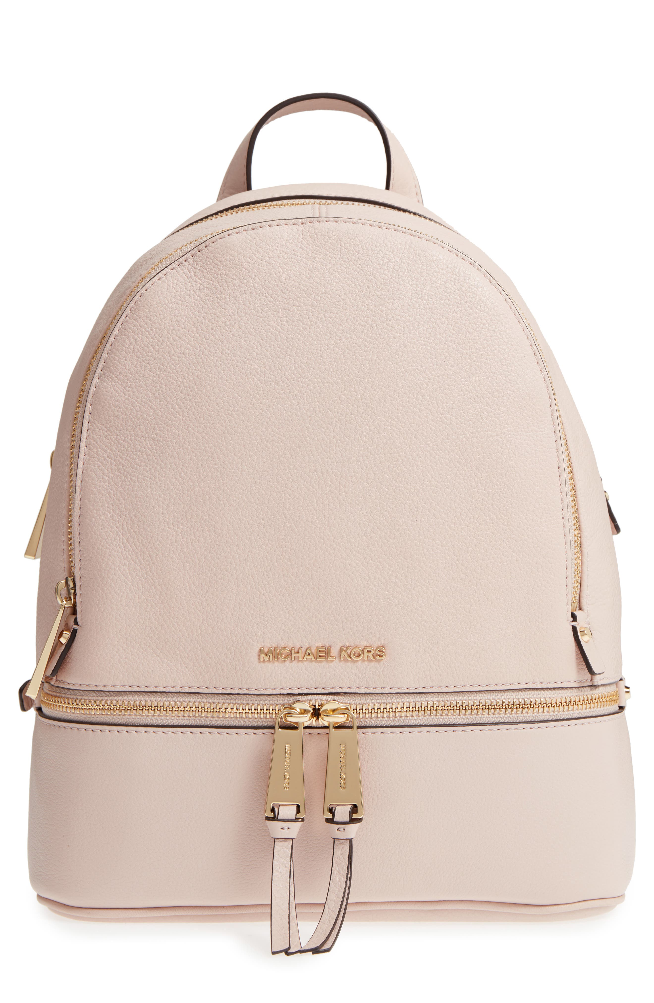 'Extra Small Rhea Zip' Leather Backpack,                             Main thumbnail 2, color,