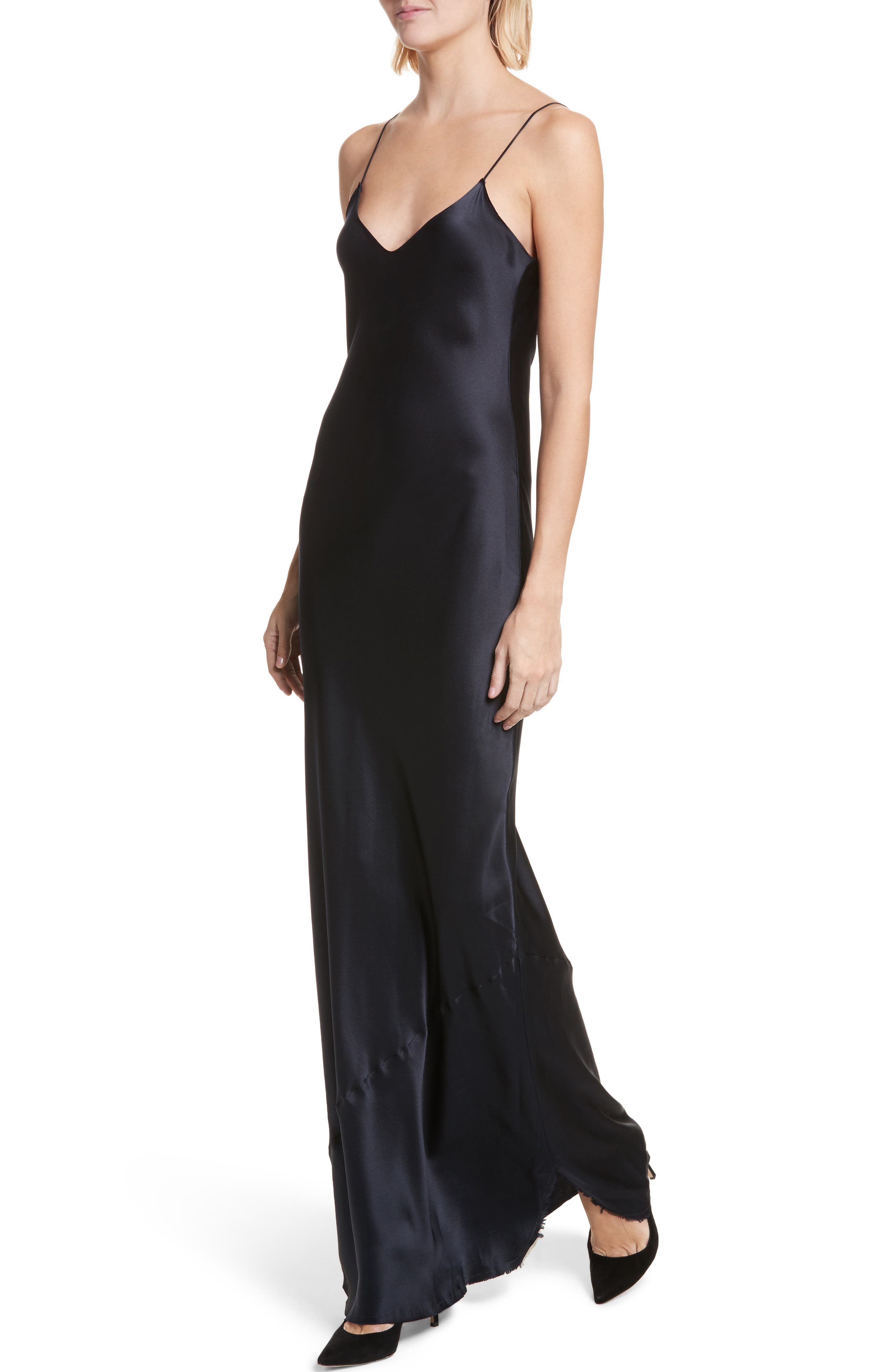 Silk Camisole Gown,                             Alternate thumbnail 4, color,                             410