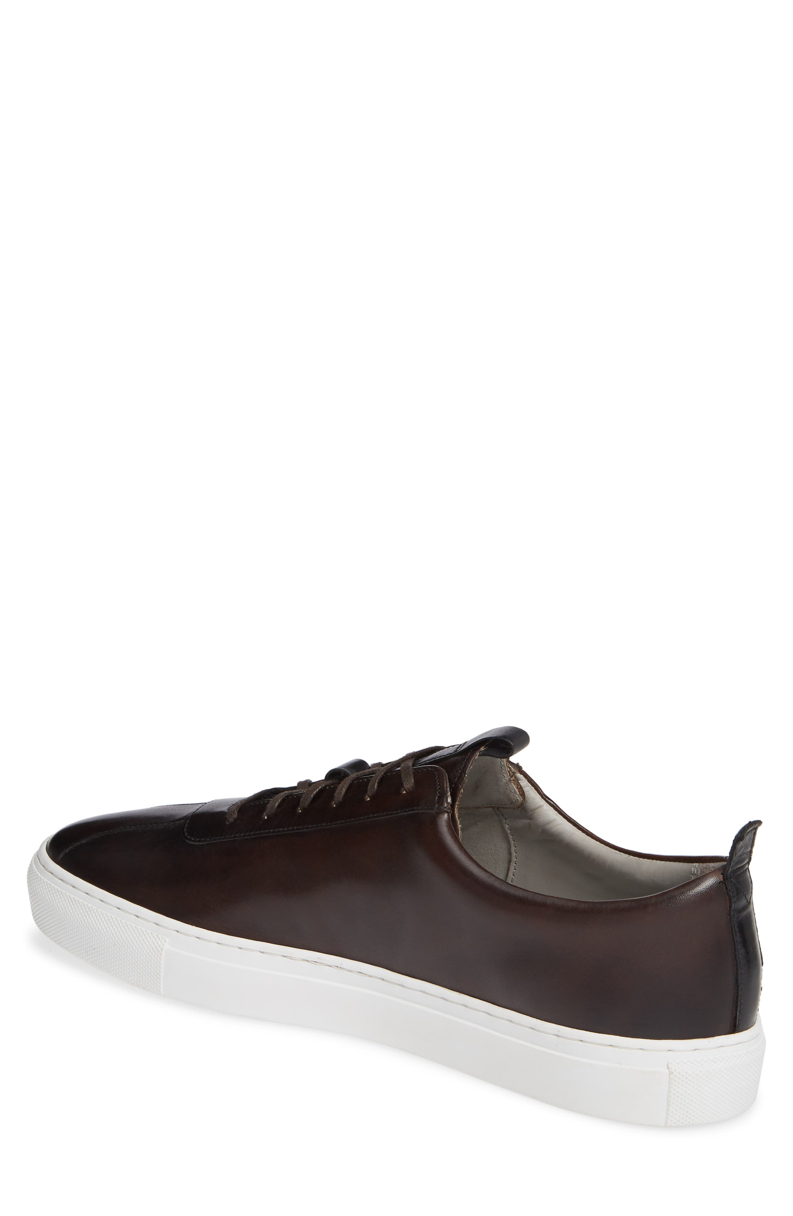 GRENSON,                             Low Top Sneaker,                             Alternate thumbnail 2, color,                             BROWN HAND PAINTED