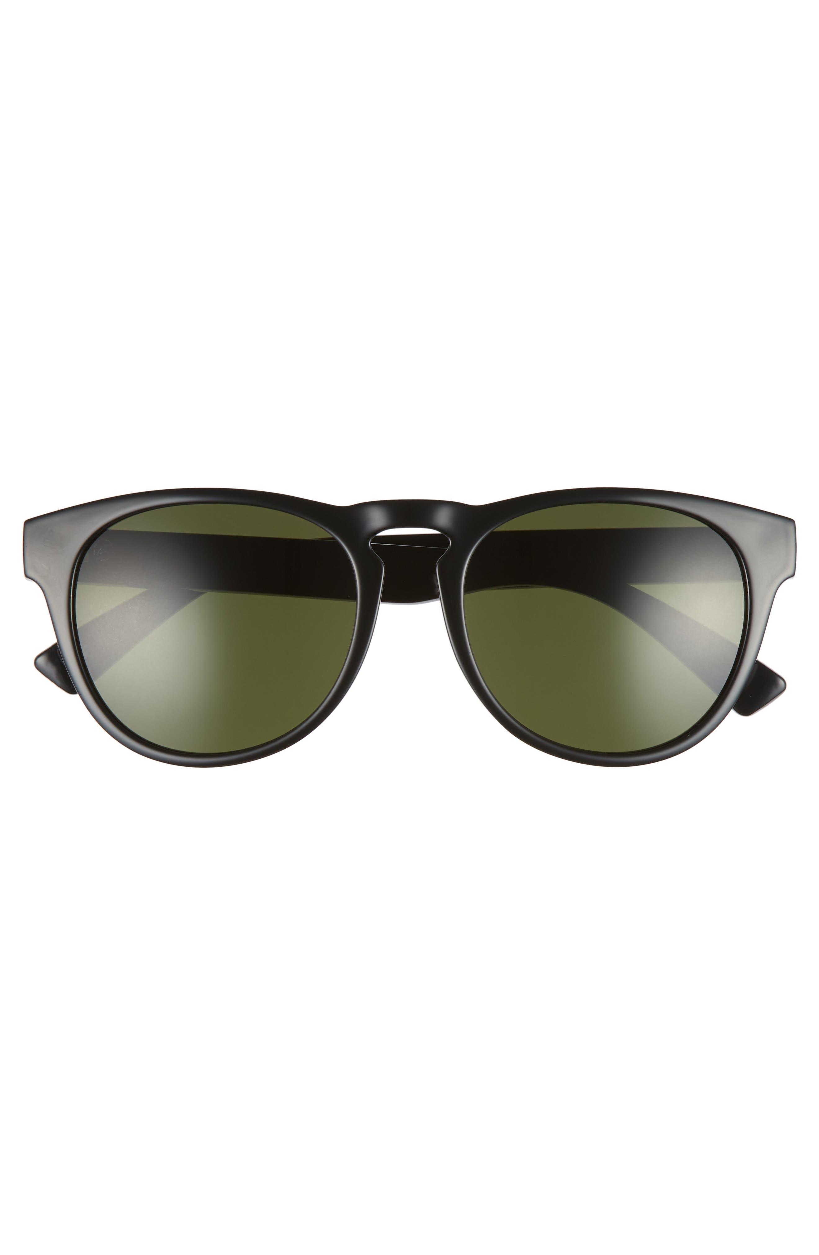 Nashville XL 52mm Melanin Infused Sunglasses,                             Alternate thumbnail 3, color,                             GLOSS BLACK/ GREY
