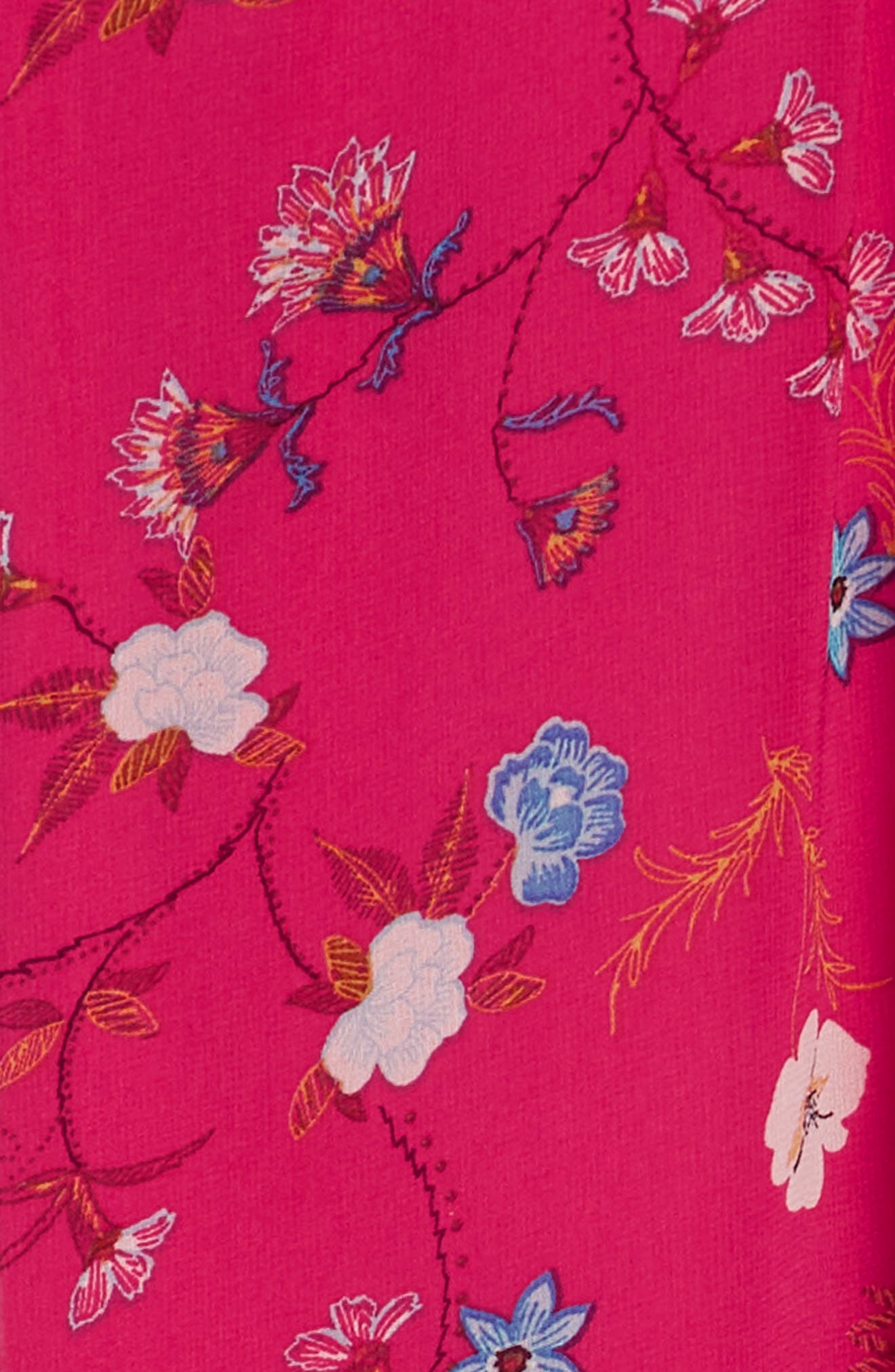 Print Halter Chiffon Dress,                             Alternate thumbnail 6, color,