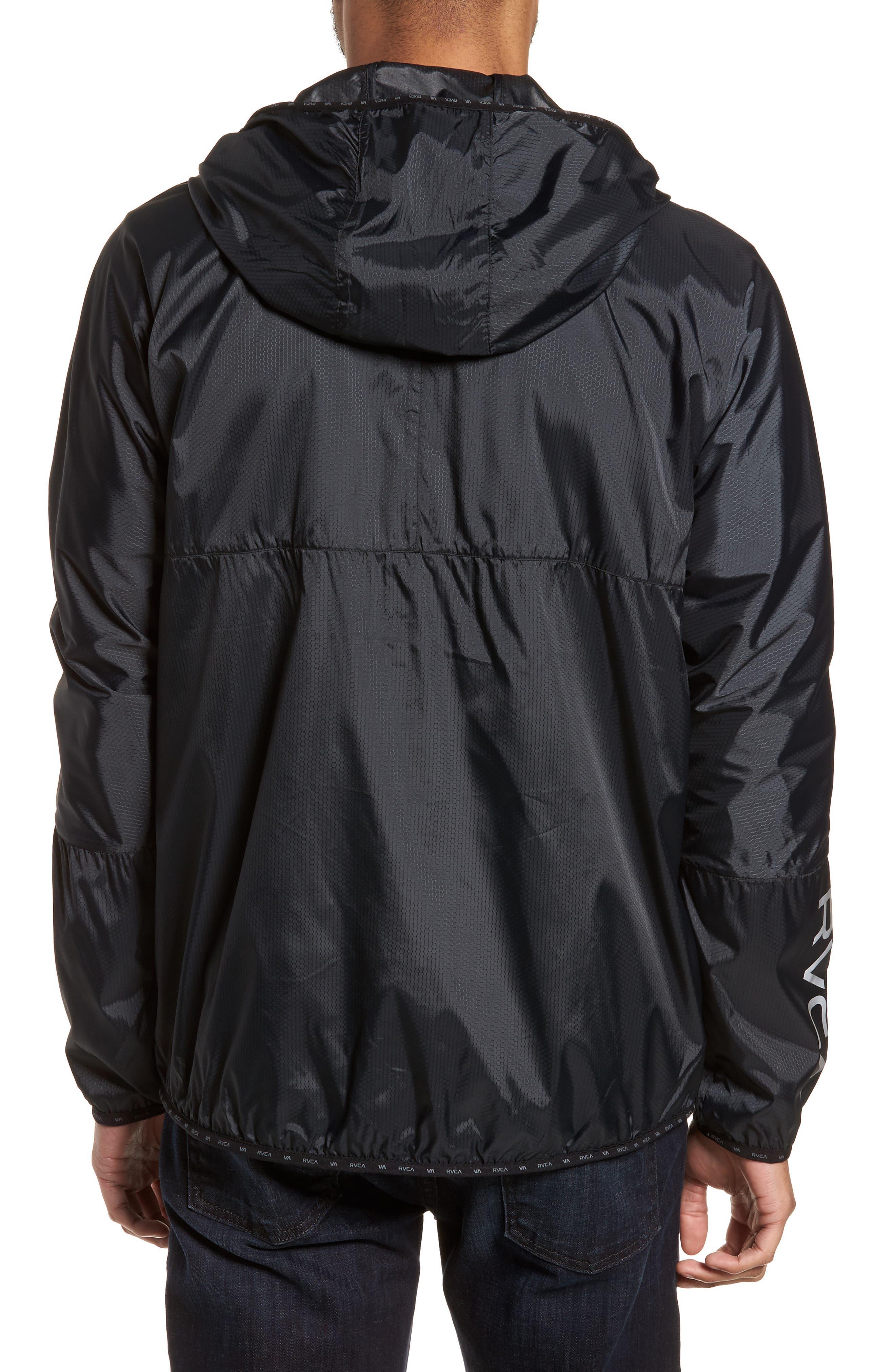 Hexstop II Water Repellent Hooded Jacket,                             Alternate thumbnail 2, color,                             001