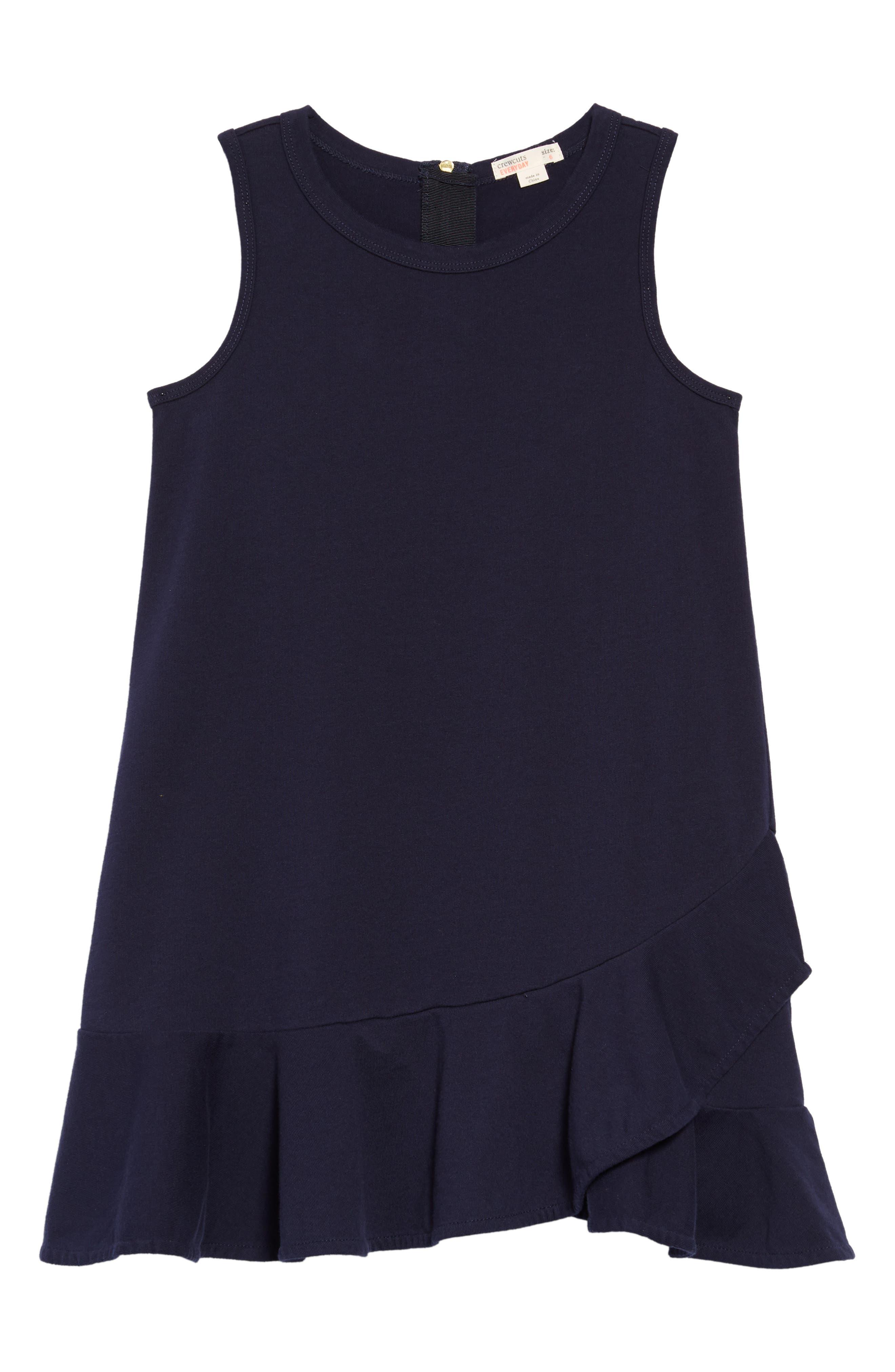 Ruffle Hem Dress,                             Main thumbnail 1, color,                             410