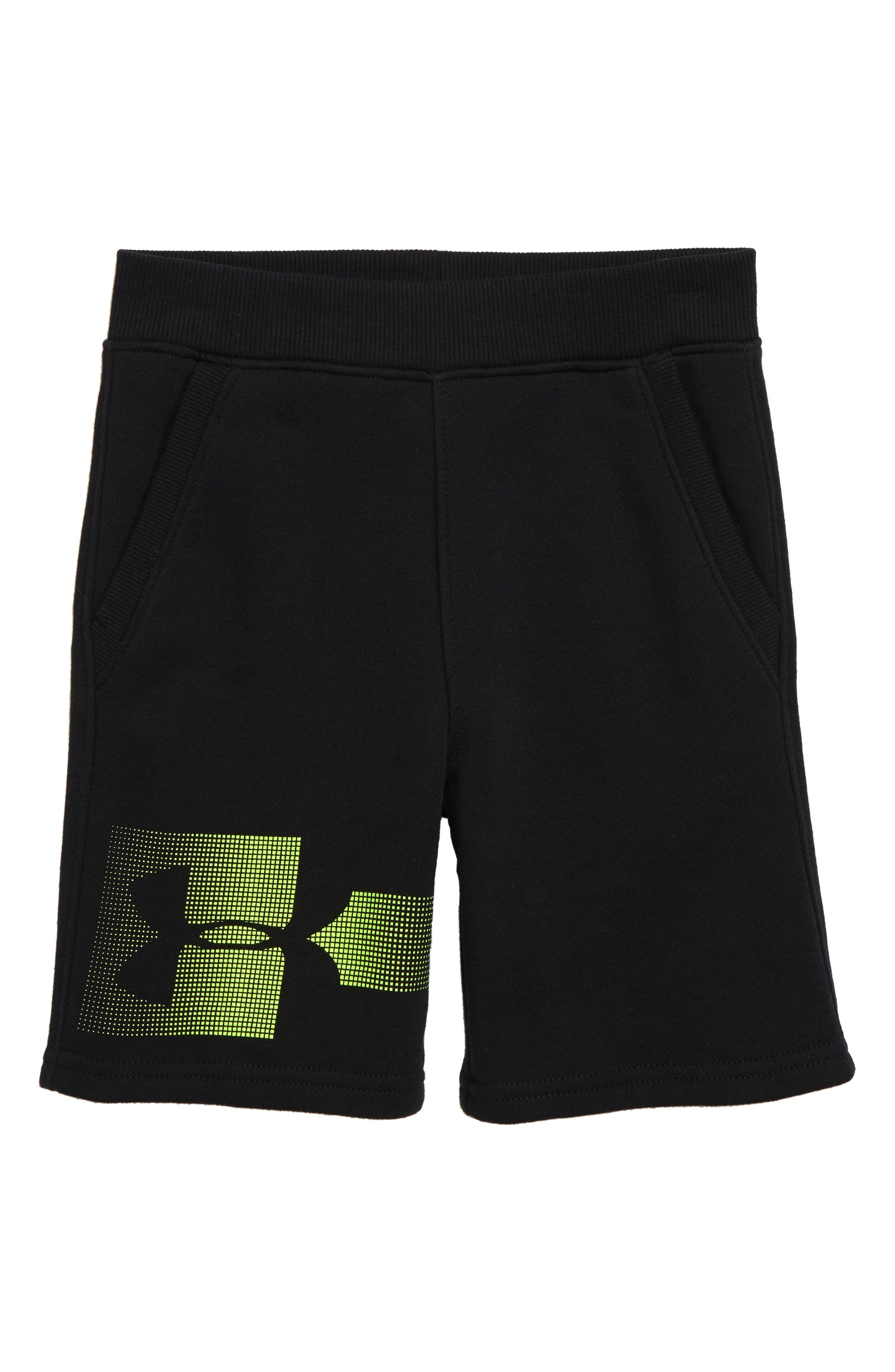 Boys Under Armour Rival Heatgear Shorts Size 7  Black