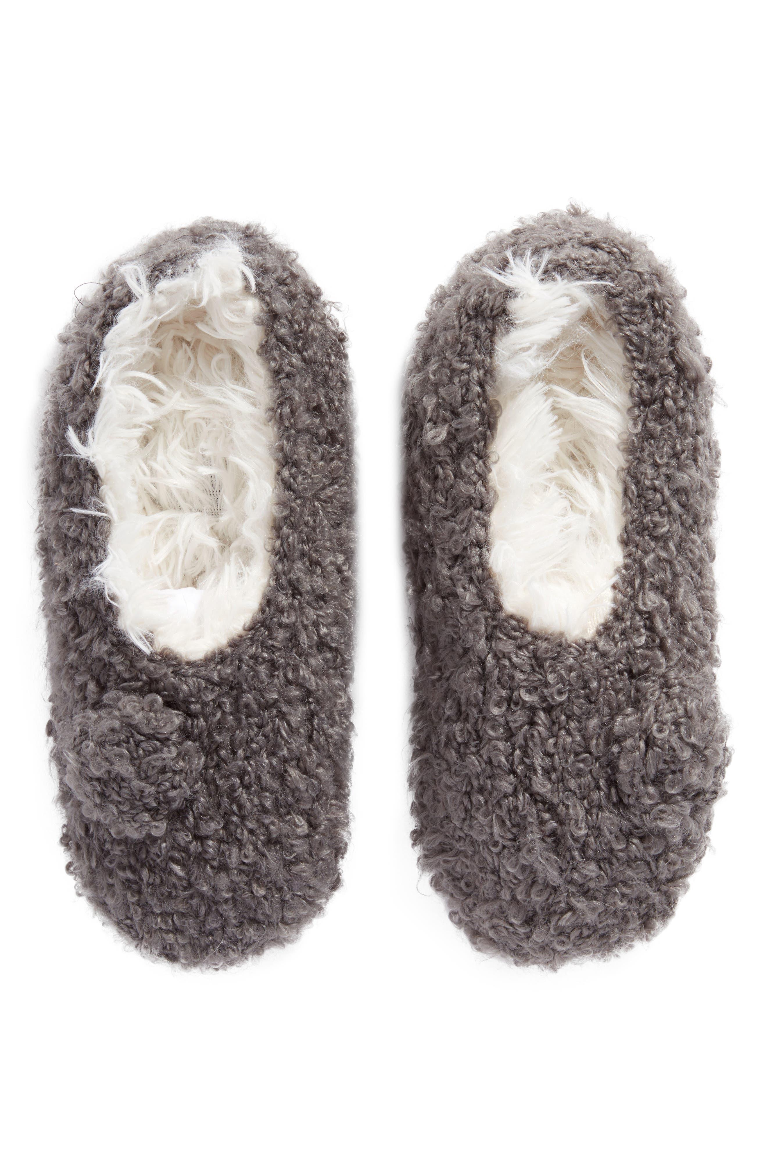 Teddy Bear Bootie Slipper Socks,                         Main,                         color, 020