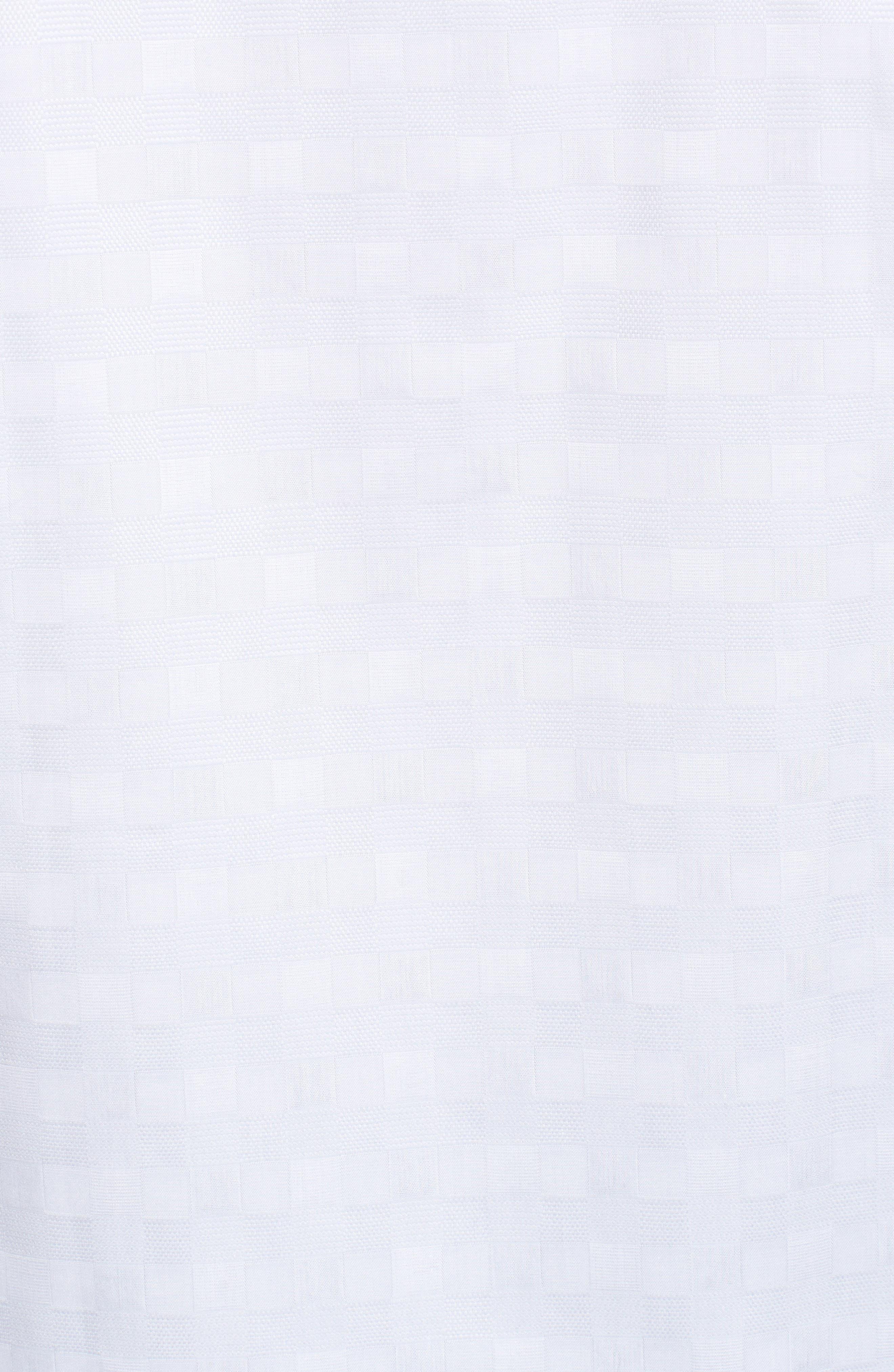 BUGATCHI,                             Classic Fit Check Jacquard Sport Shirt,                             Alternate thumbnail 5, color,                             040