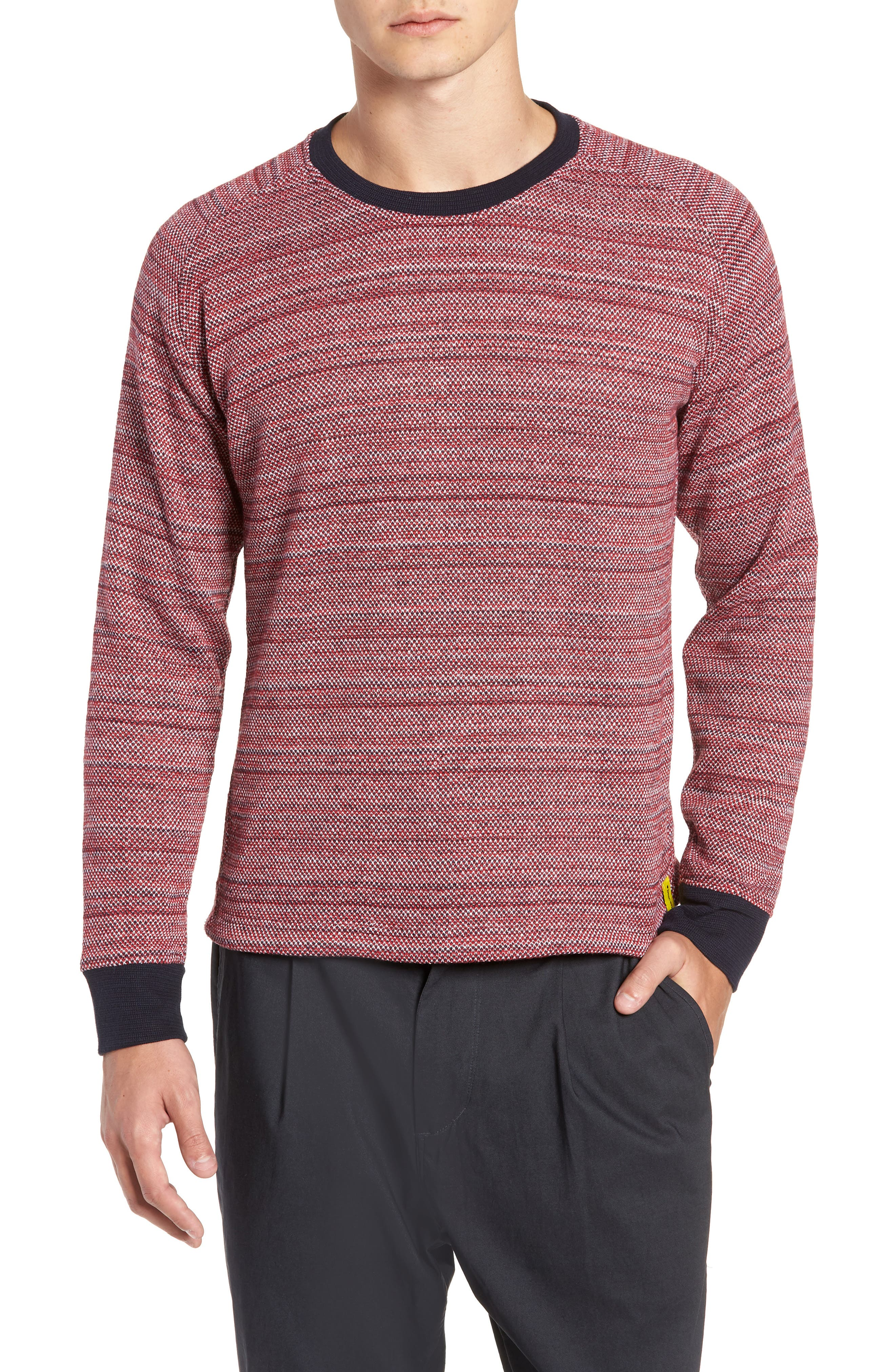 Inside Out Sweater,                             Main thumbnail 1, color,                             RED