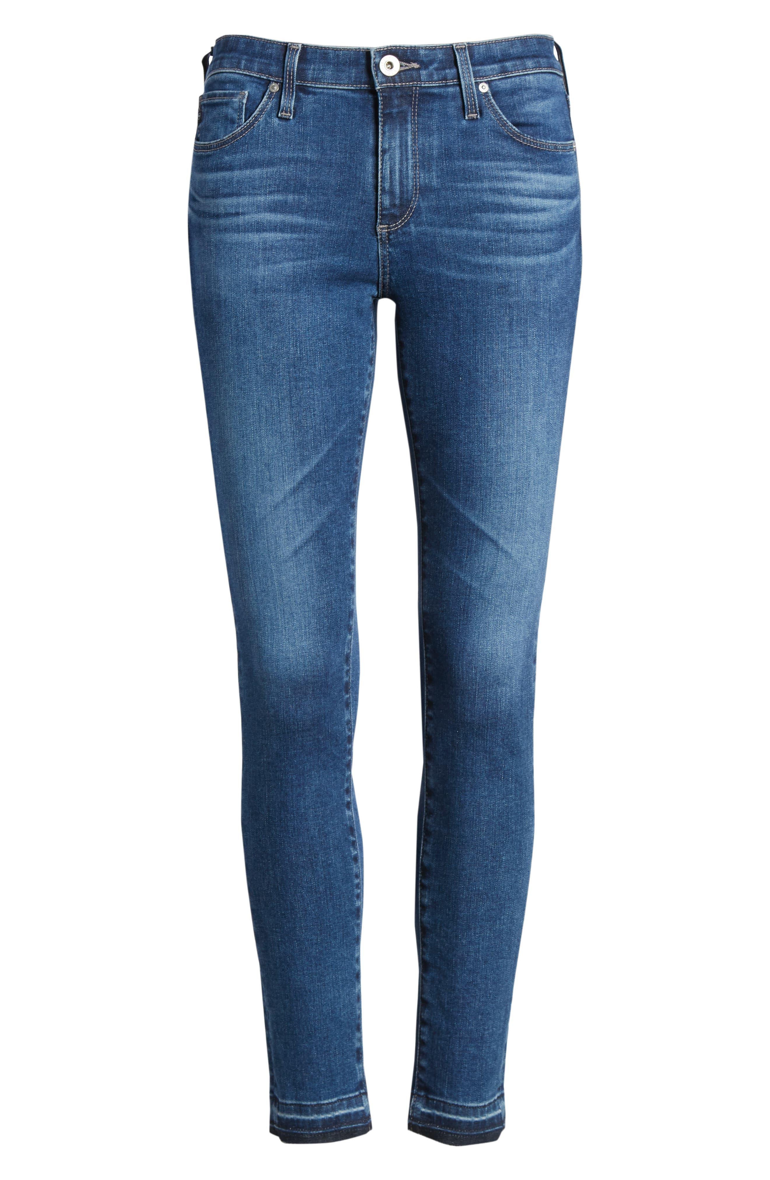 The Legging Ankle Super Skinny Jeans,                             Alternate thumbnail 7, color,                             421
