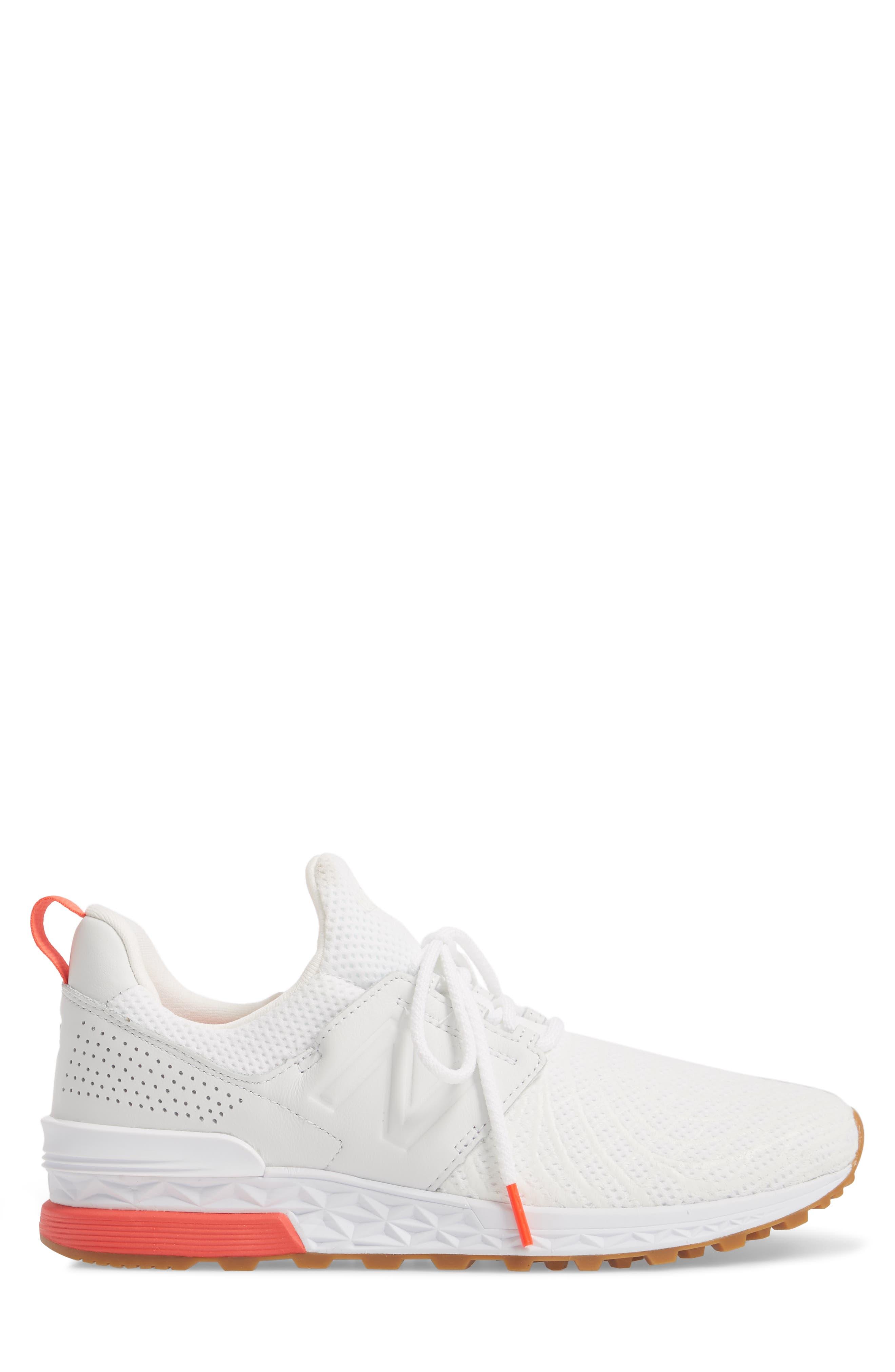 574 Sport Sneaker,                             Alternate thumbnail 3, color,                             WHITE