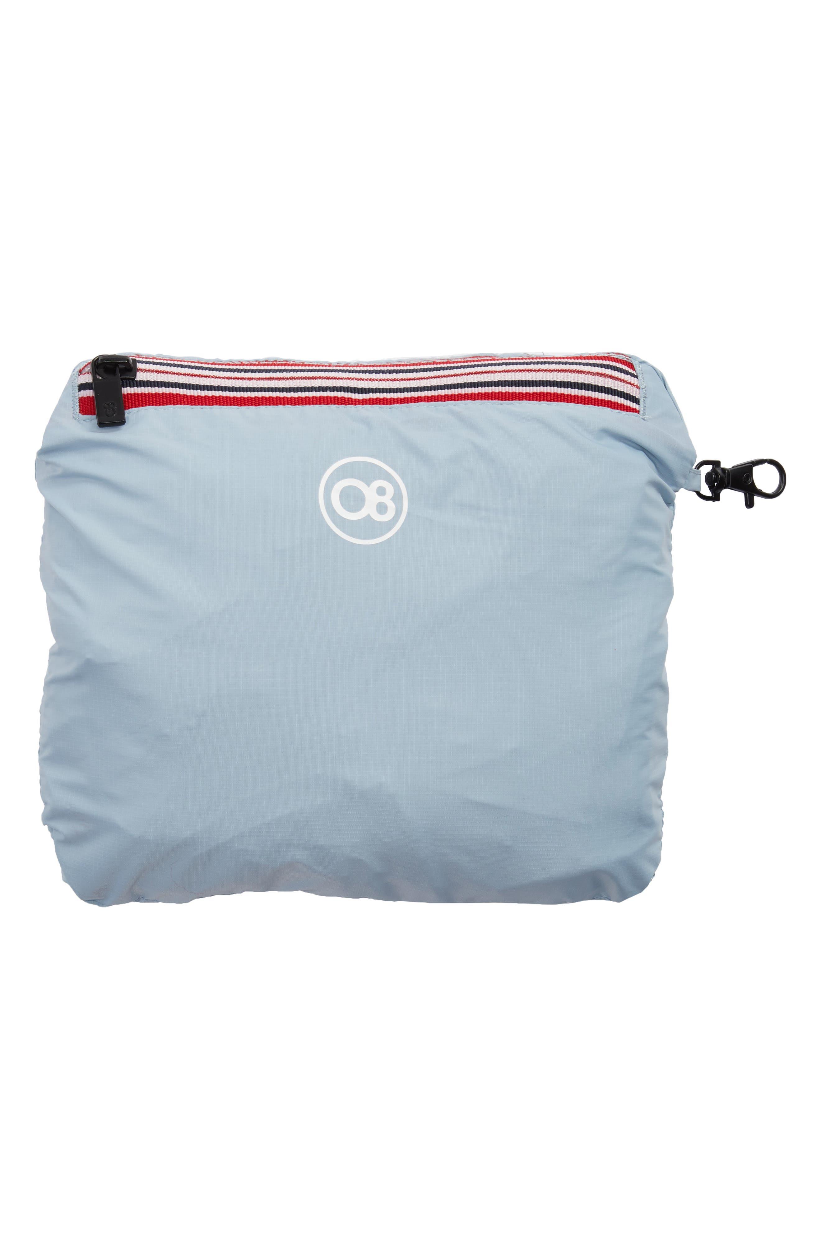 Packable Rain Jacket,                             Alternate thumbnail 7, color,                             CELESTIAL BLUE