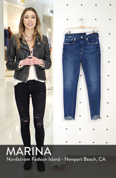 High Waist Fray Crop Skinny Jeans, sales video thumbnail