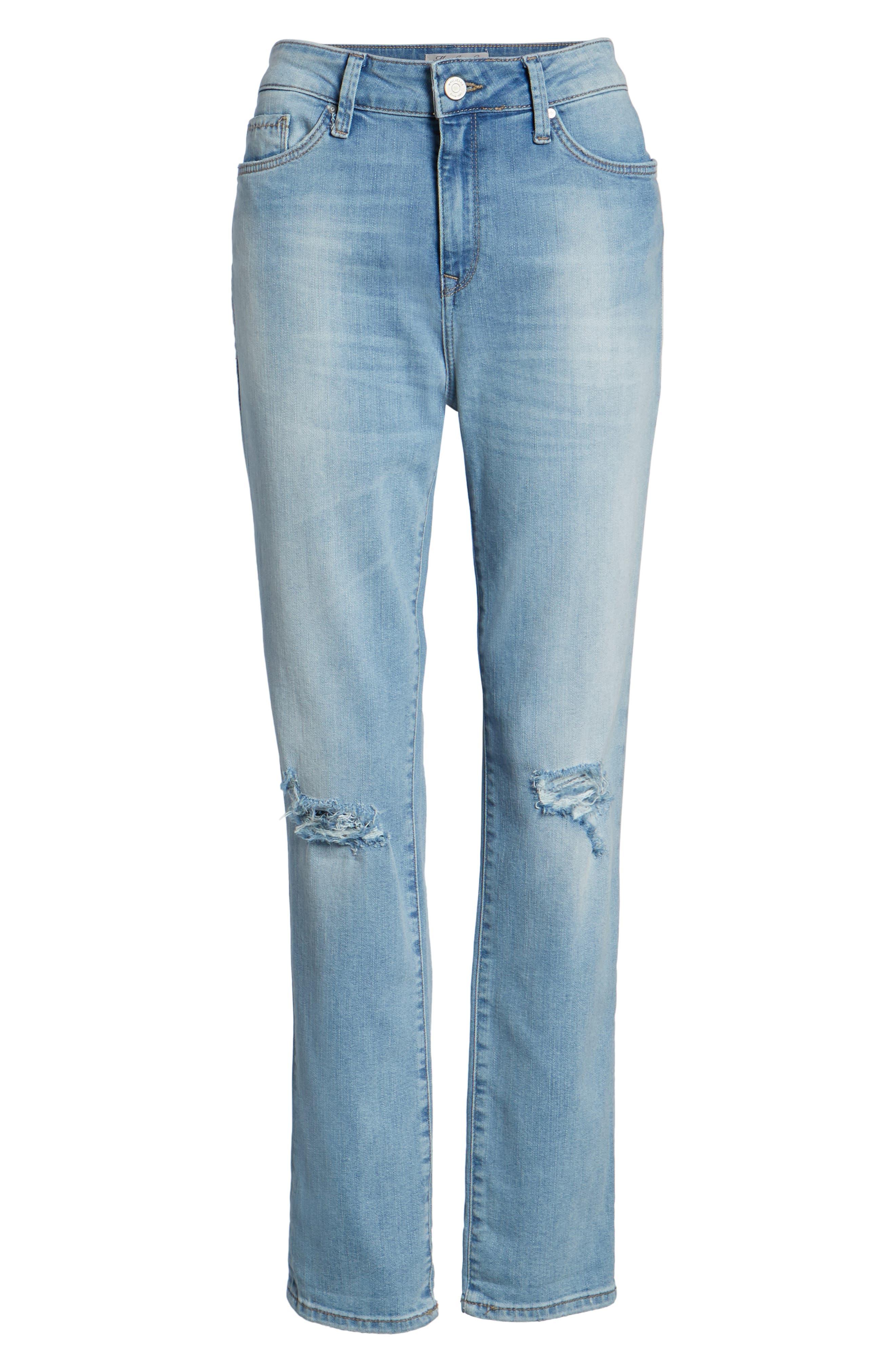 Lea Boyfriend Ripped Jeans,                             Alternate thumbnail 7, color,                             420