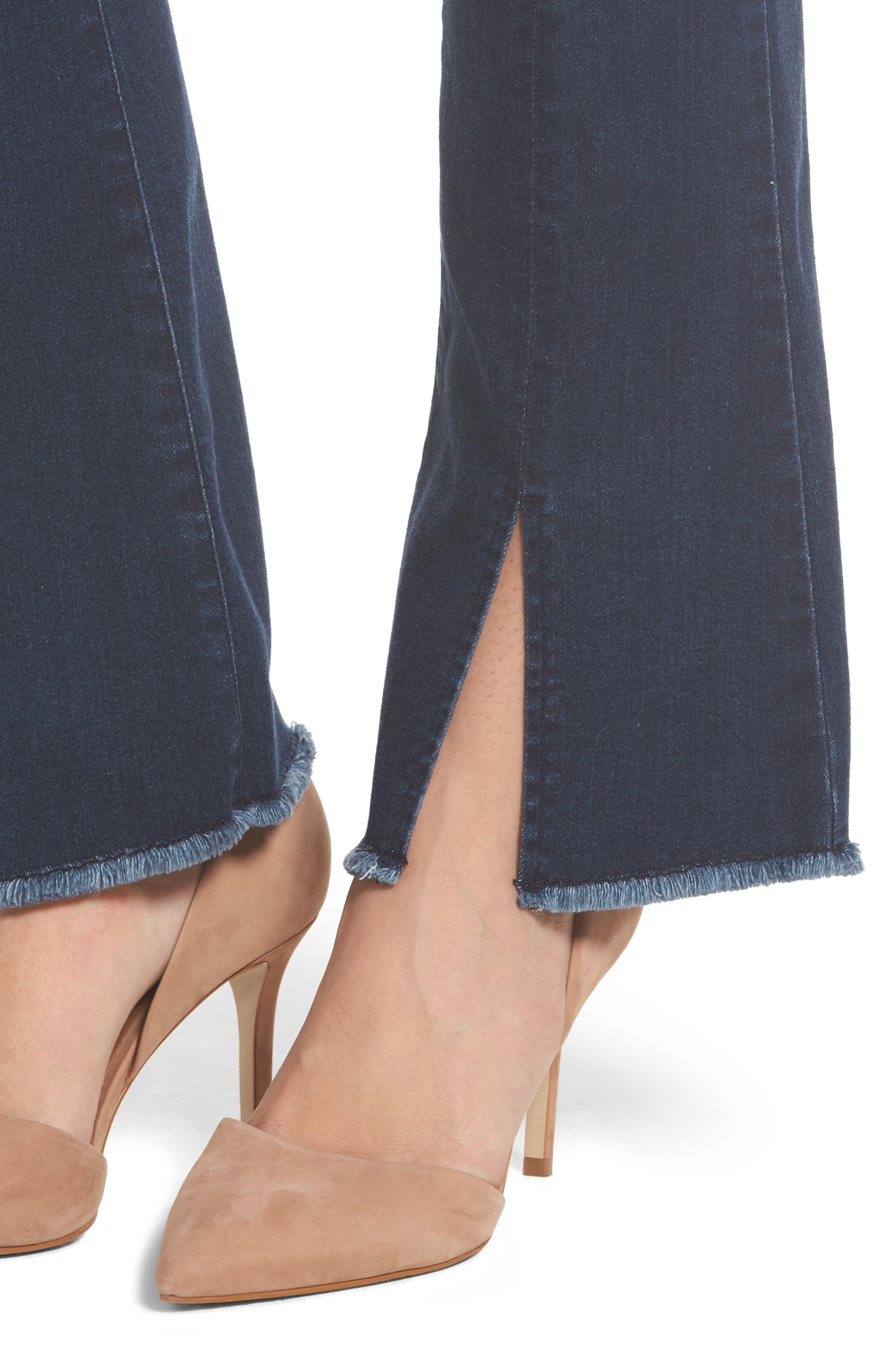 Itty Bitty Split Hem Bootcut Jeans,                             Alternate thumbnail 4, color,