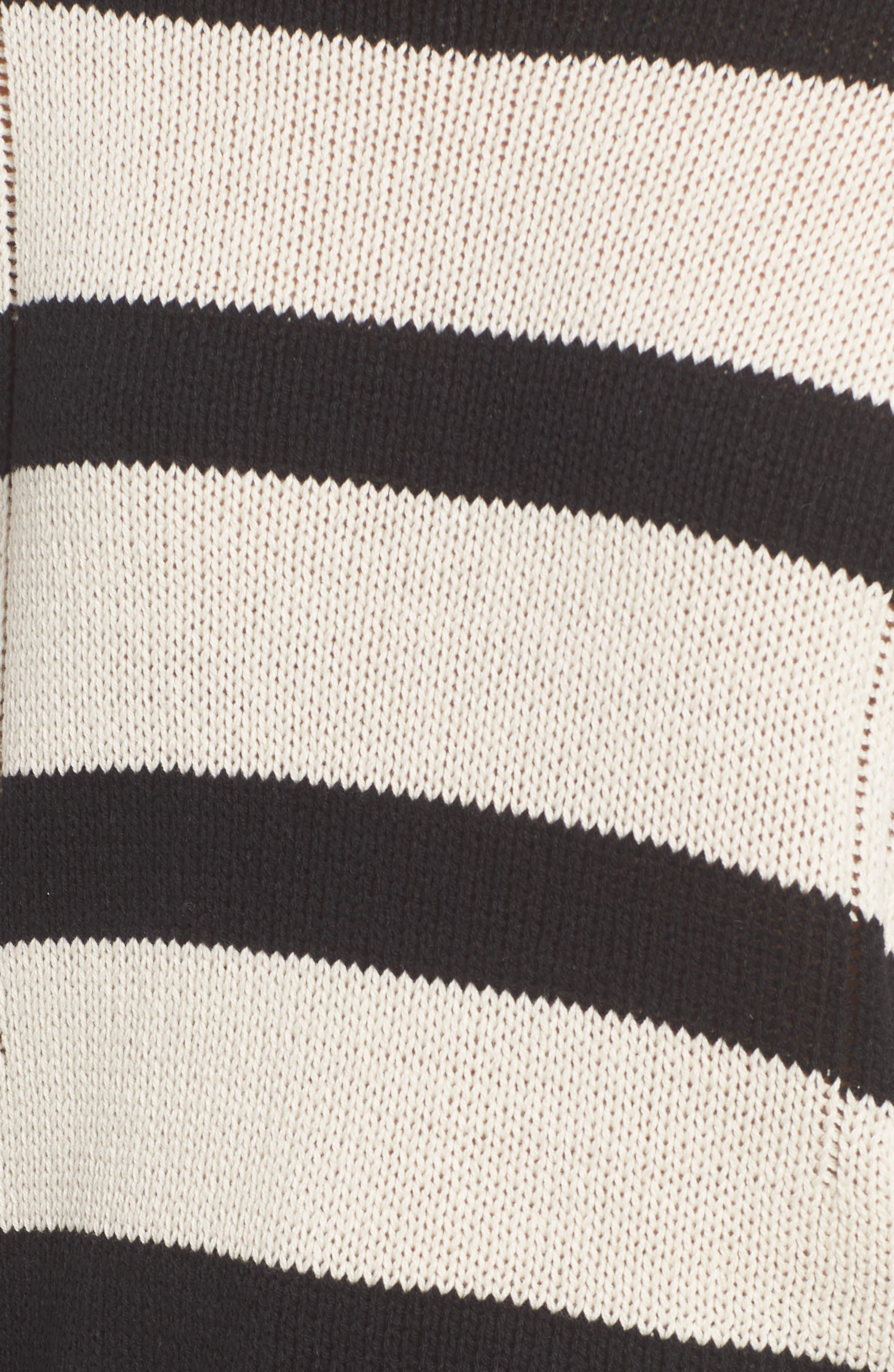 Tia Sweater,                             Alternate thumbnail 5, color,                             BLACK TAN STRIPE