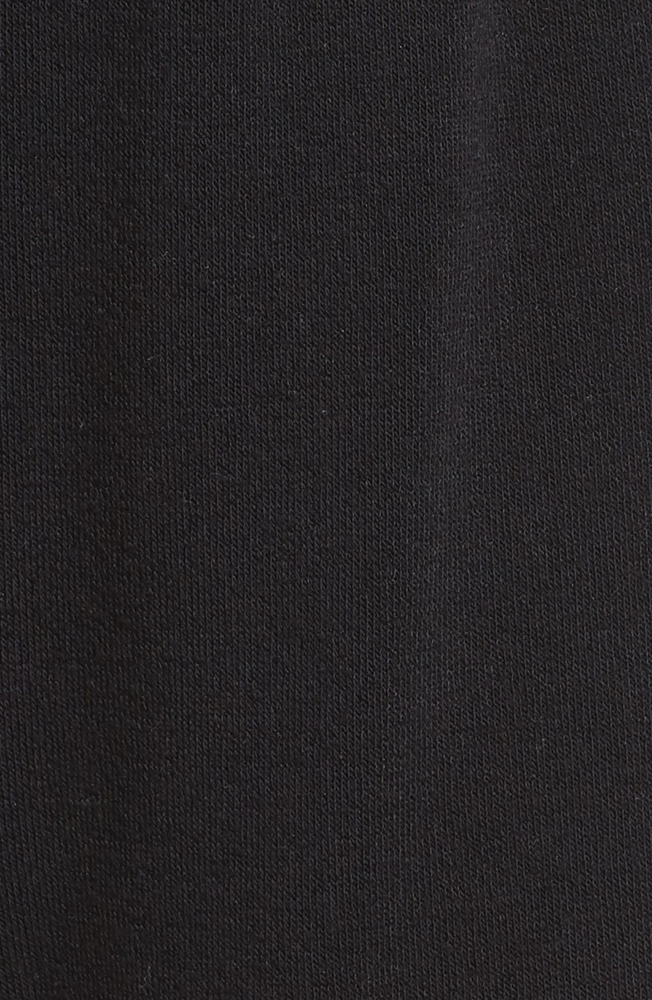 Dreamy High Rise Fleece Shorts,                             Alternate thumbnail 5, color,                             BLACK